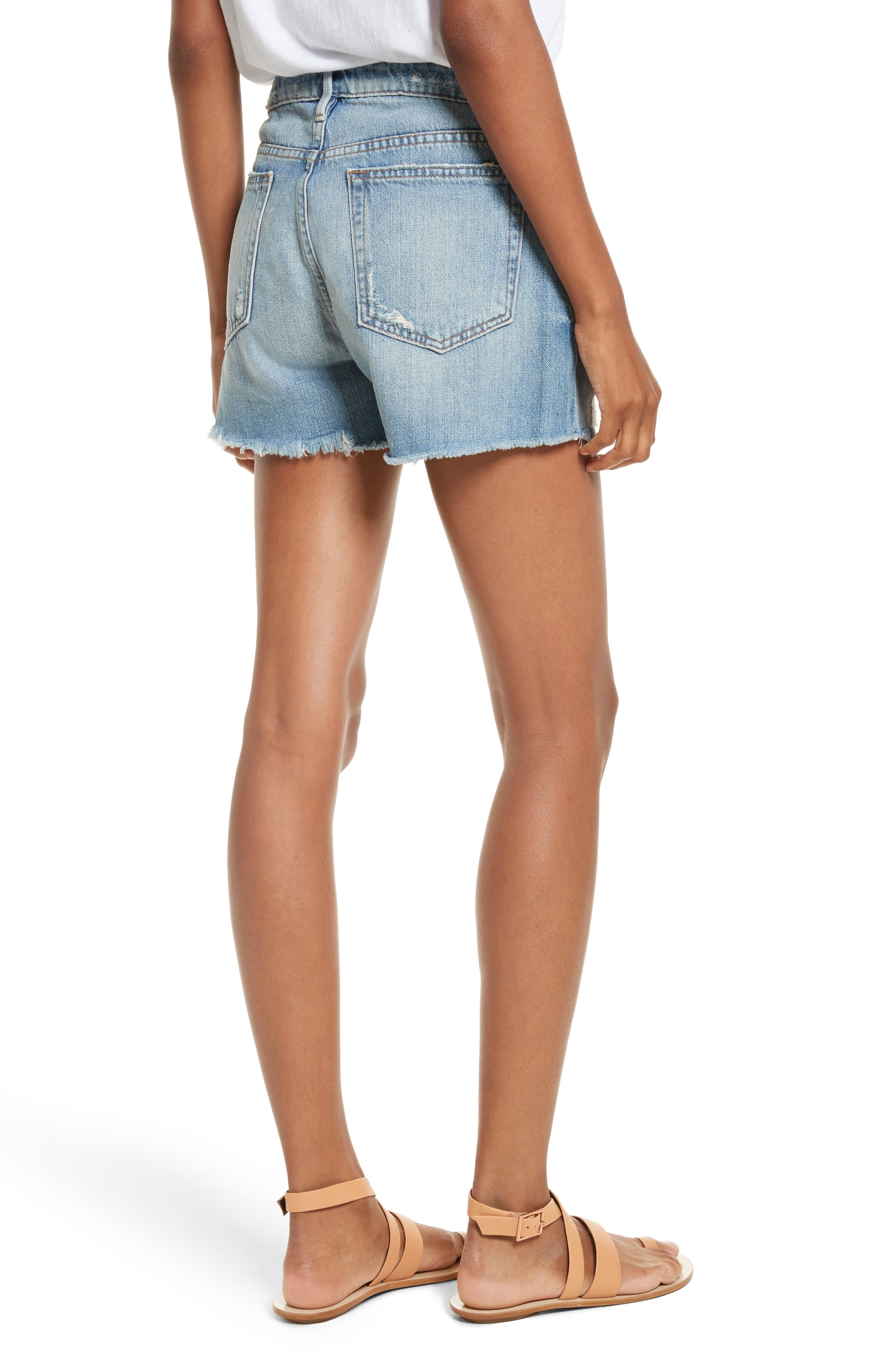 Le Grand Garçon Cutoff Denim Shorts,                             Alternate thumbnail 2, color,                             Albion