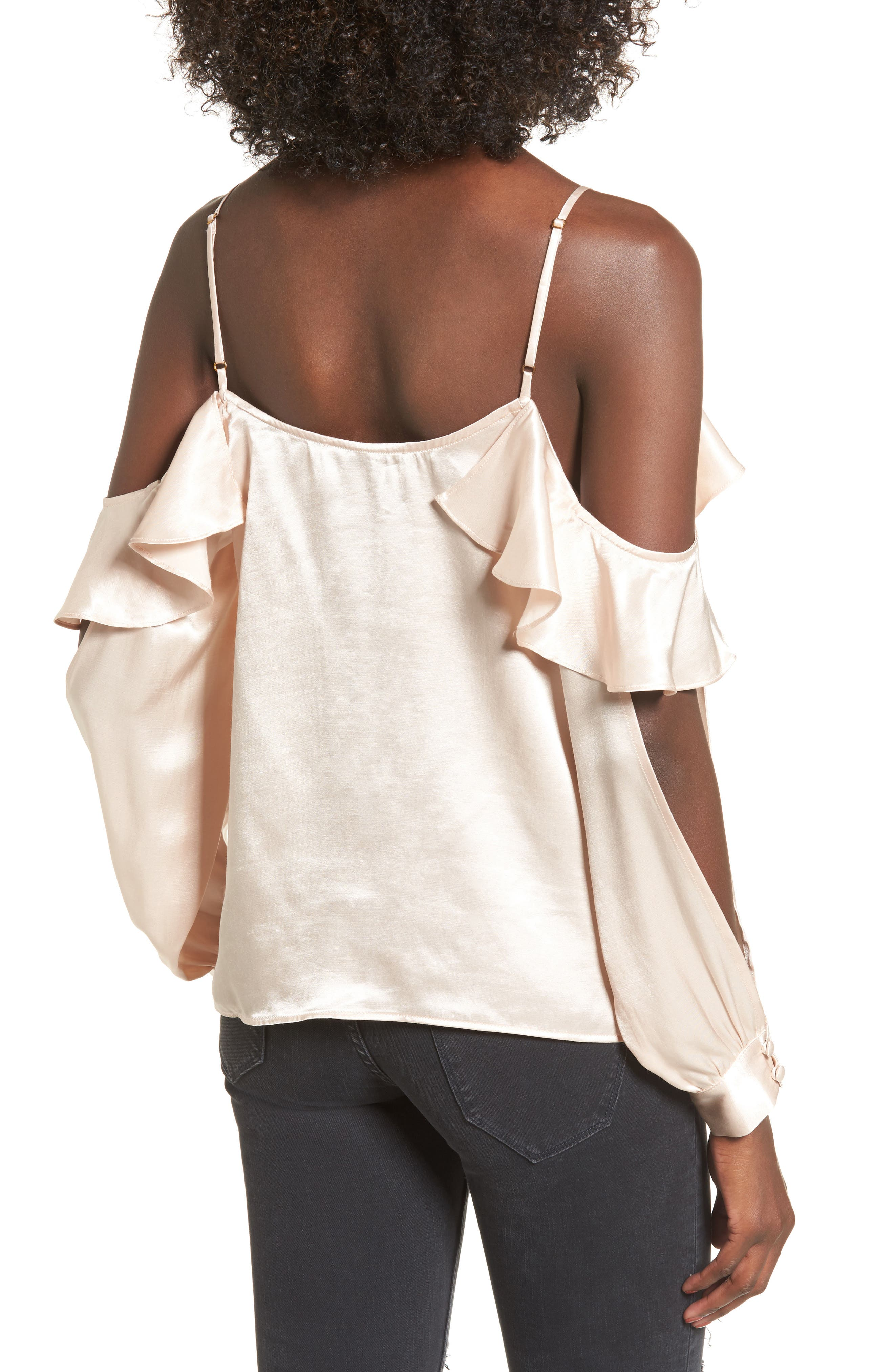 L'Academie The Open Sleeve Blouse,                             Alternate thumbnail 2, color,                             Champagne