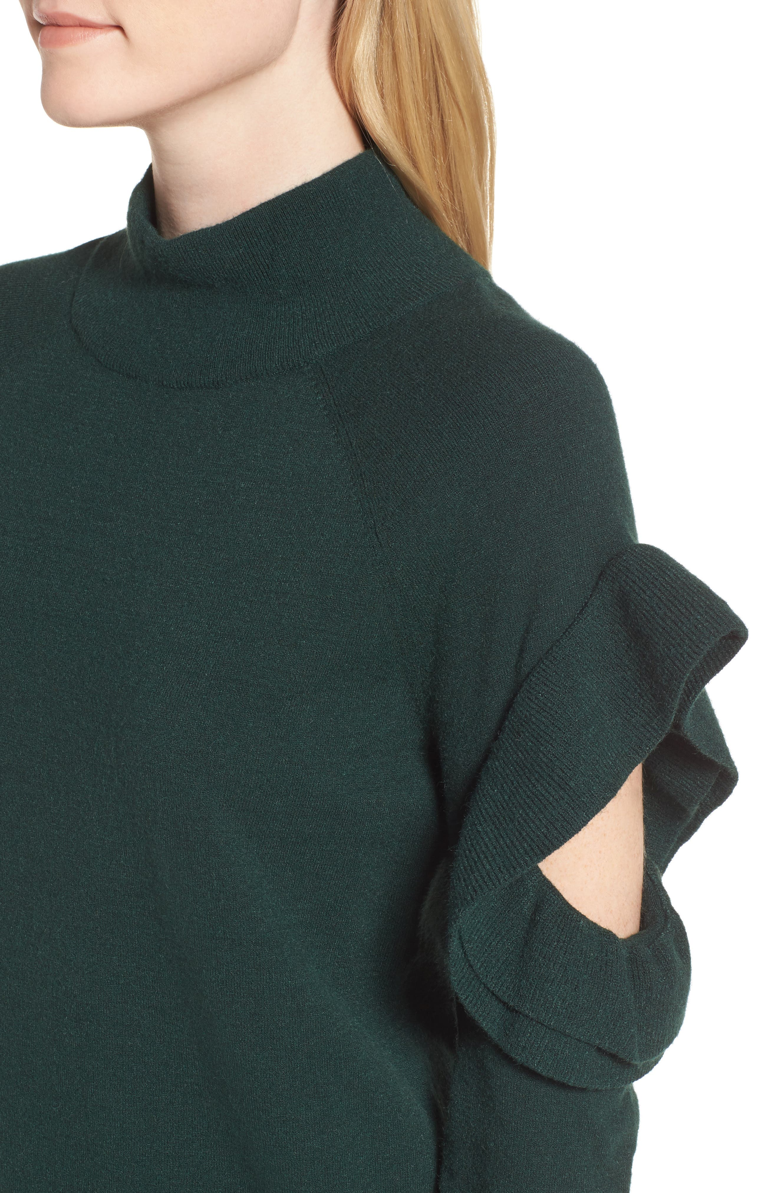 Alternate Image 4  - Chelsea28 Ruffle Sleeve Sweater