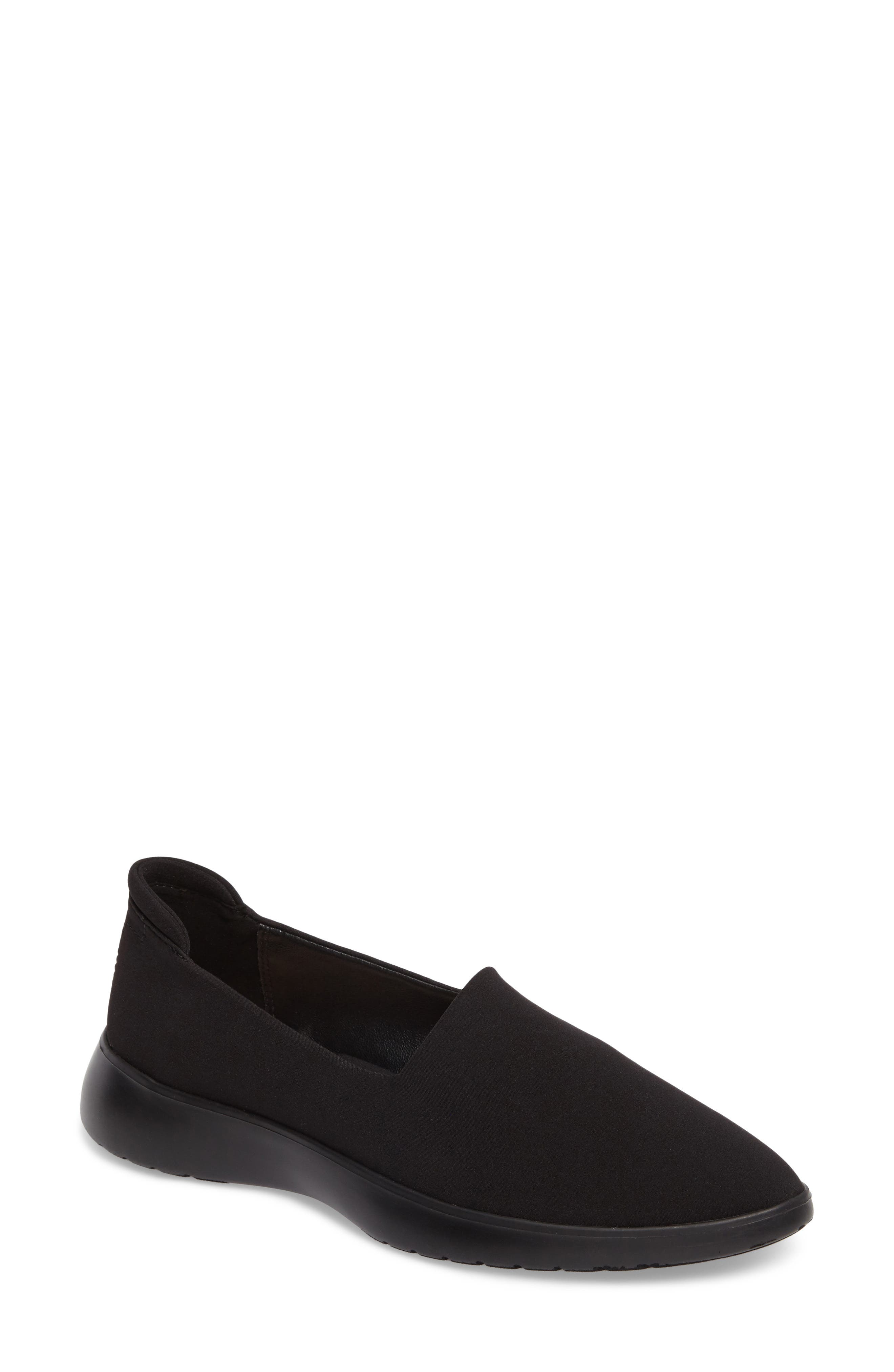 Darla Flat,                             Main thumbnail 1, color,                             Black Fabric