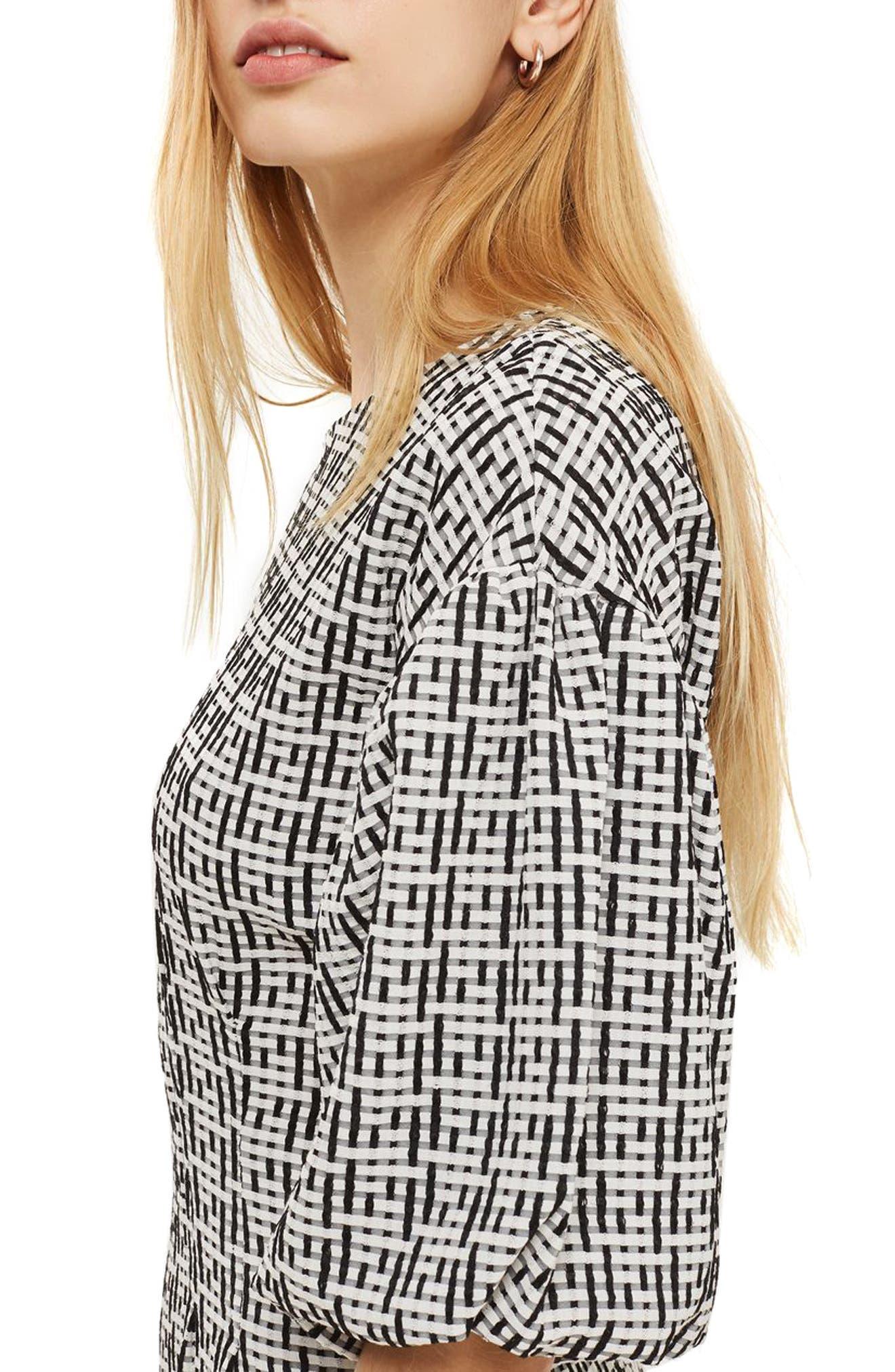 Alternate Image 3  - Topshop Puff Sleeve Sheath Dress
