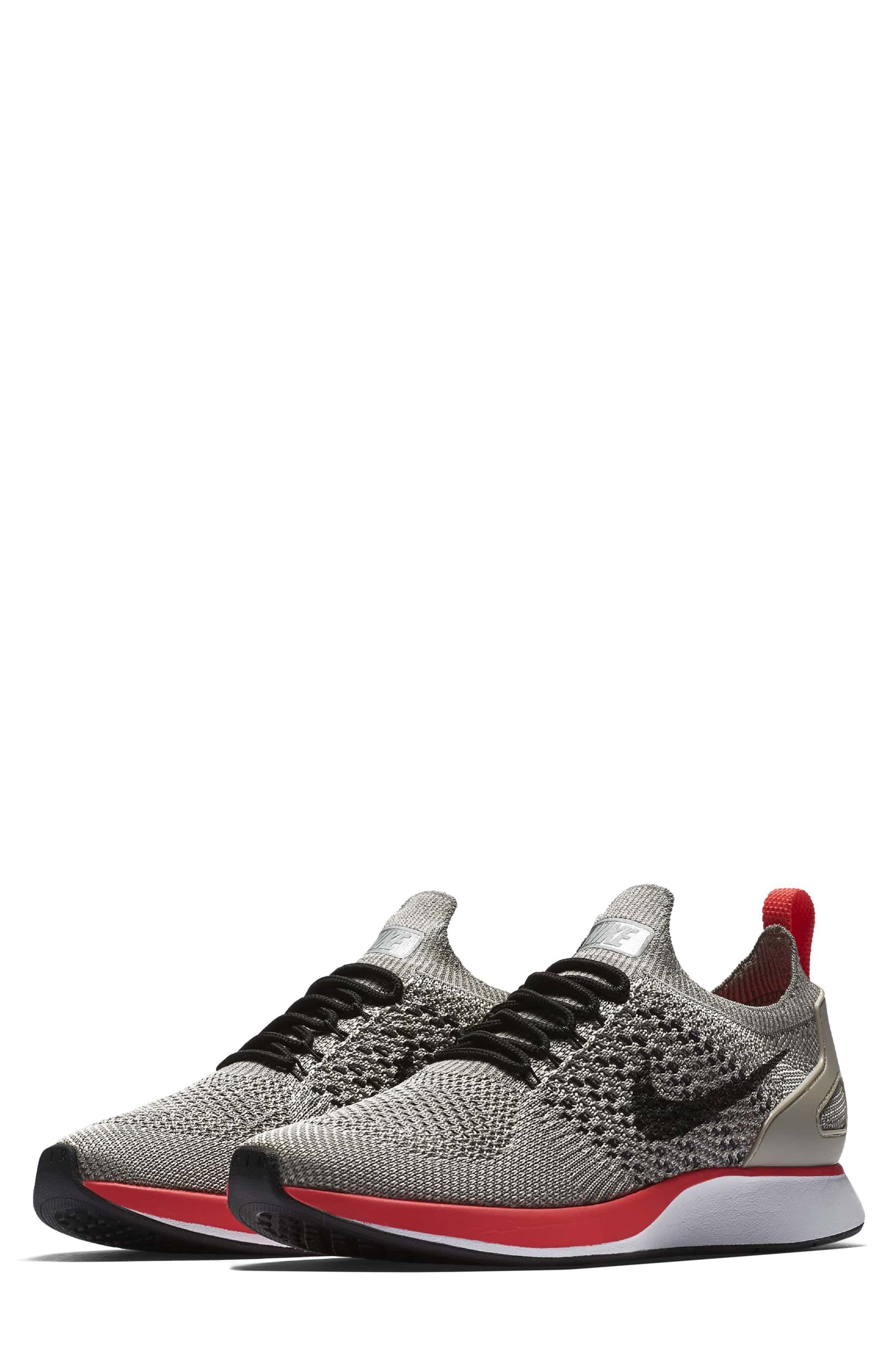 Air Zoom Mariah Flyknit Racer Sneaker,                             Main thumbnail 1, color,                             String/ Black/ White