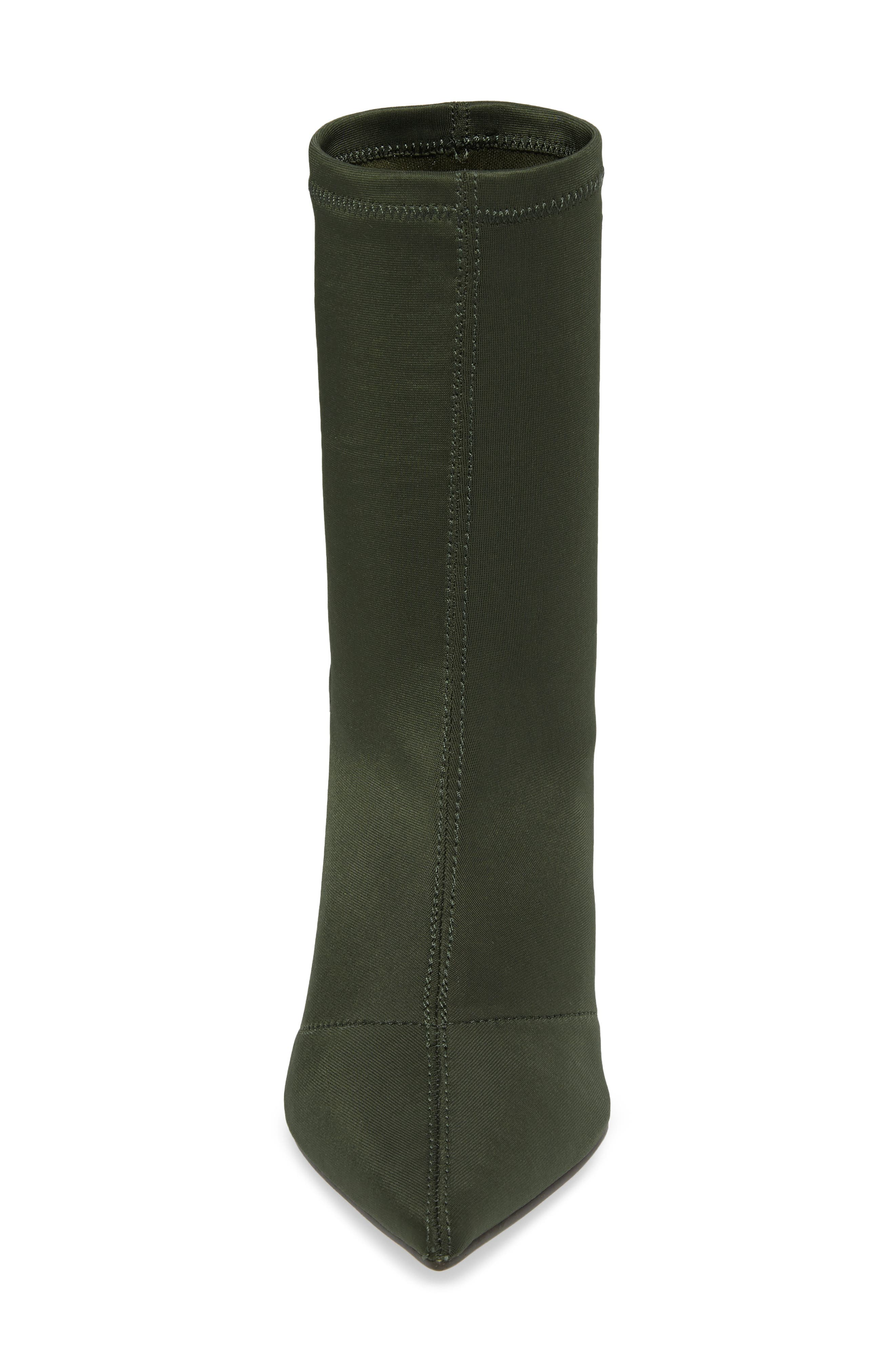 Lombard Pointy Toe Sock Bootie,                             Alternate thumbnail 5, color,                             Olive