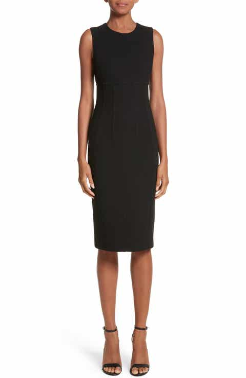 Michael Kors Stretch Bouclé Crepe Sheath Dress