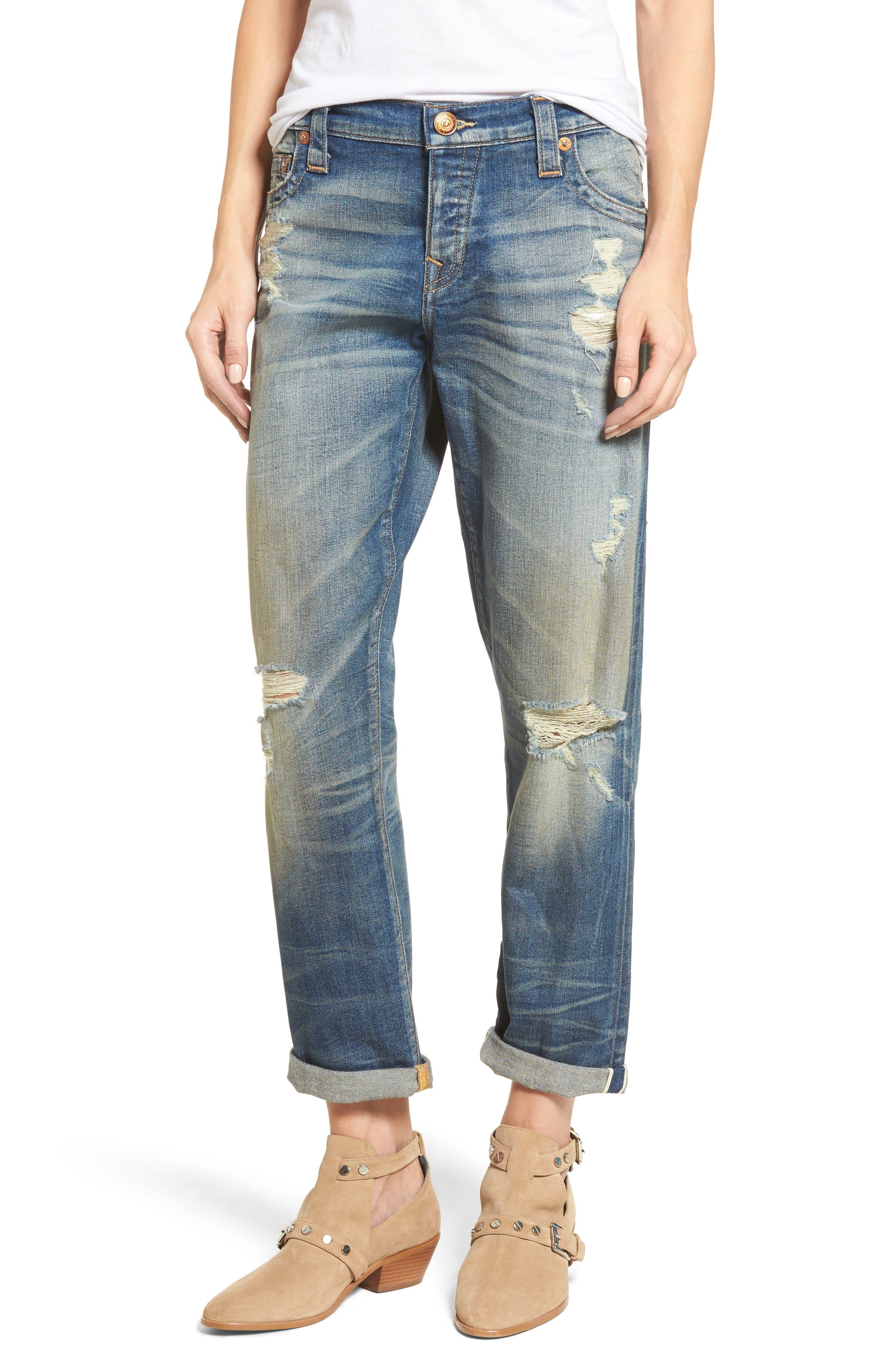 Main Image - True Religion Brand Jeans Cameron Slim Boyfriend Jeans (Indigo Legacy)