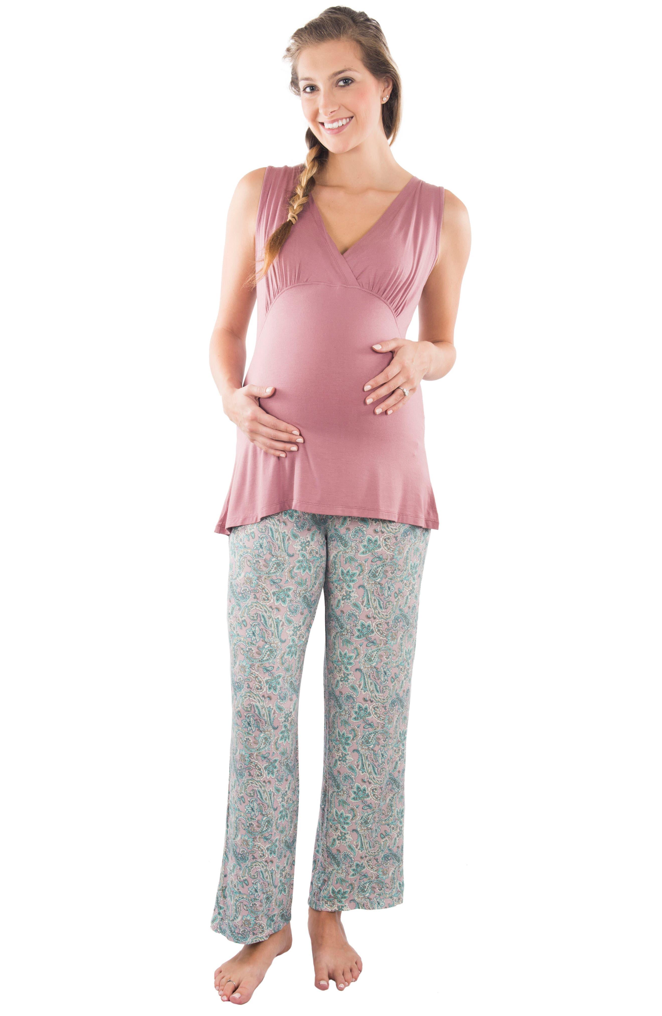 Alternate Image 3  - Everly Grey Susan 5-Piece Maternity/Nursing Pajama Set