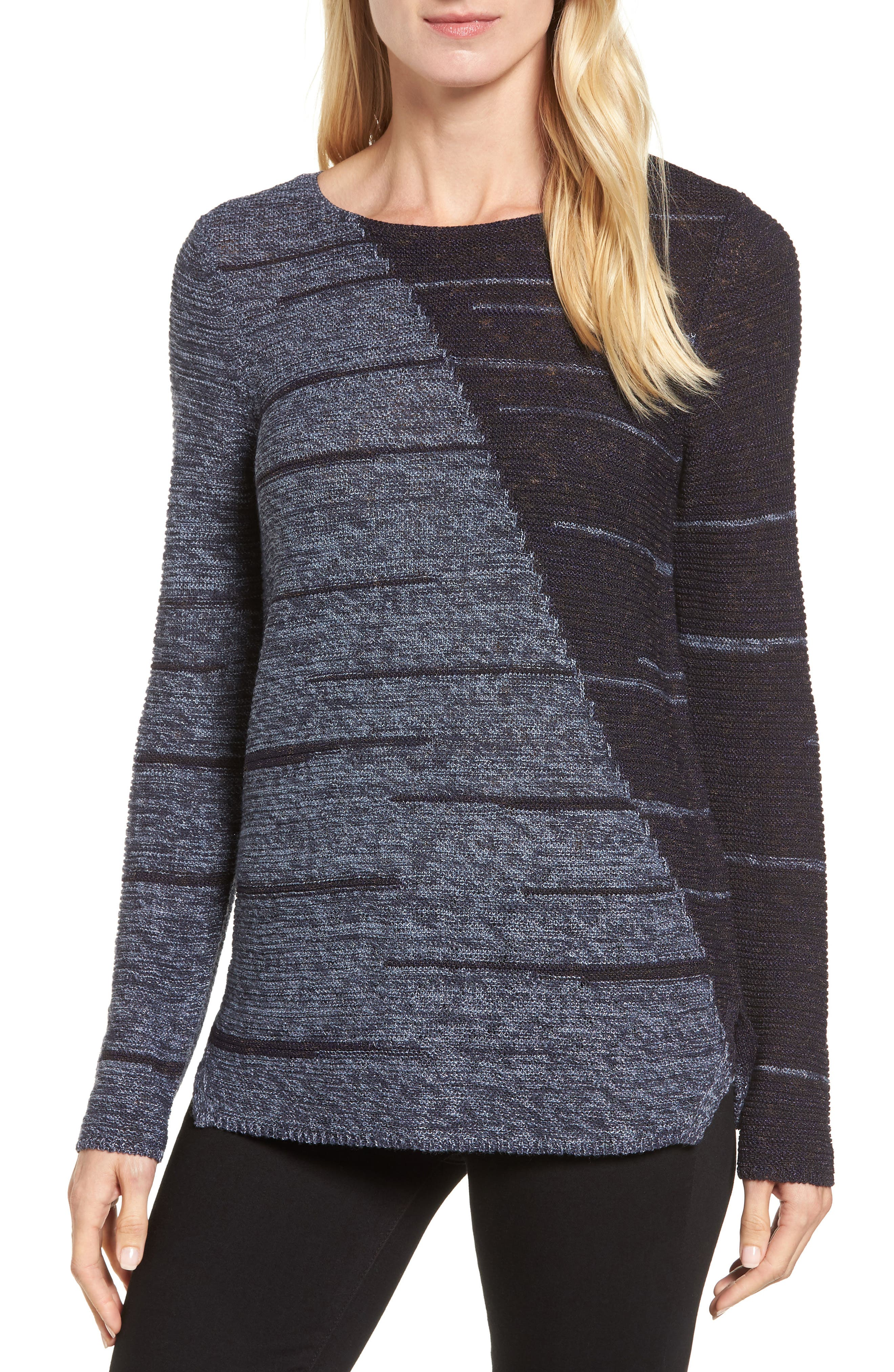 New Reflections Top,                         Main,                         color, Faded Navy