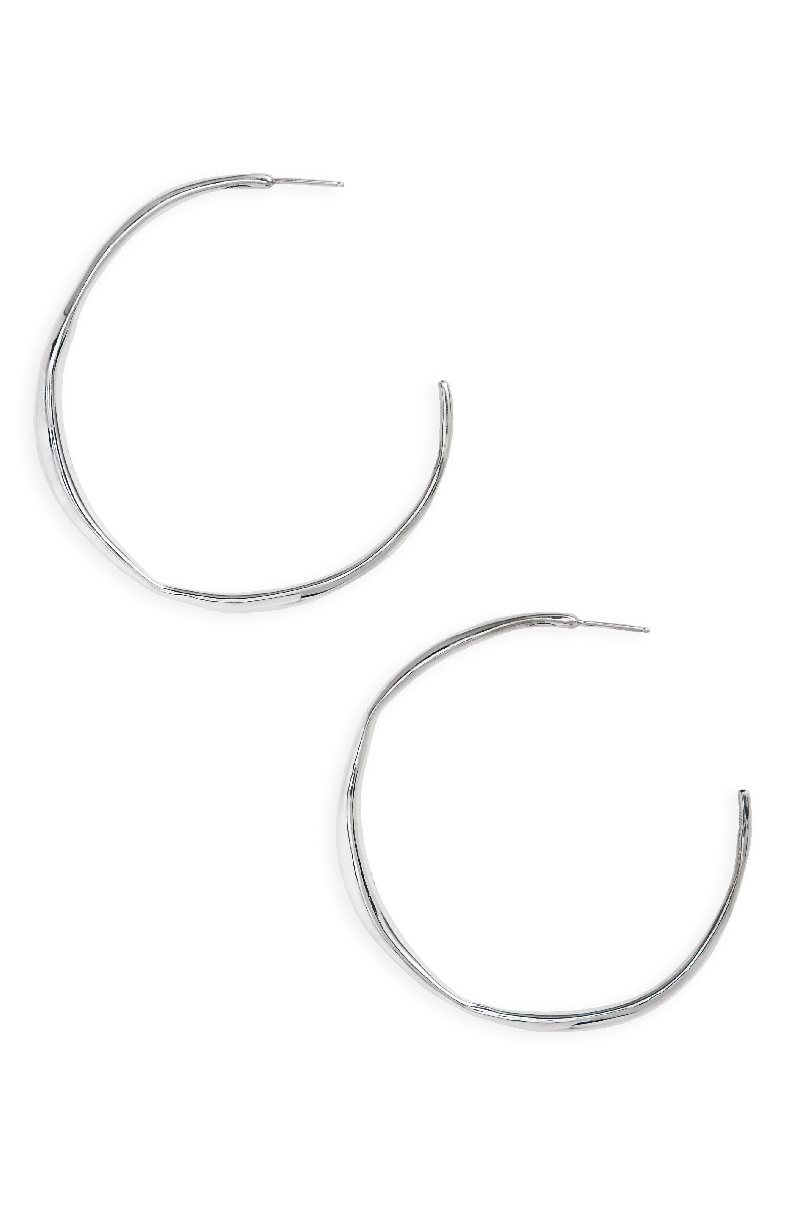 Medium Vero Hoops,                         Main,                         color, Sterling Silver