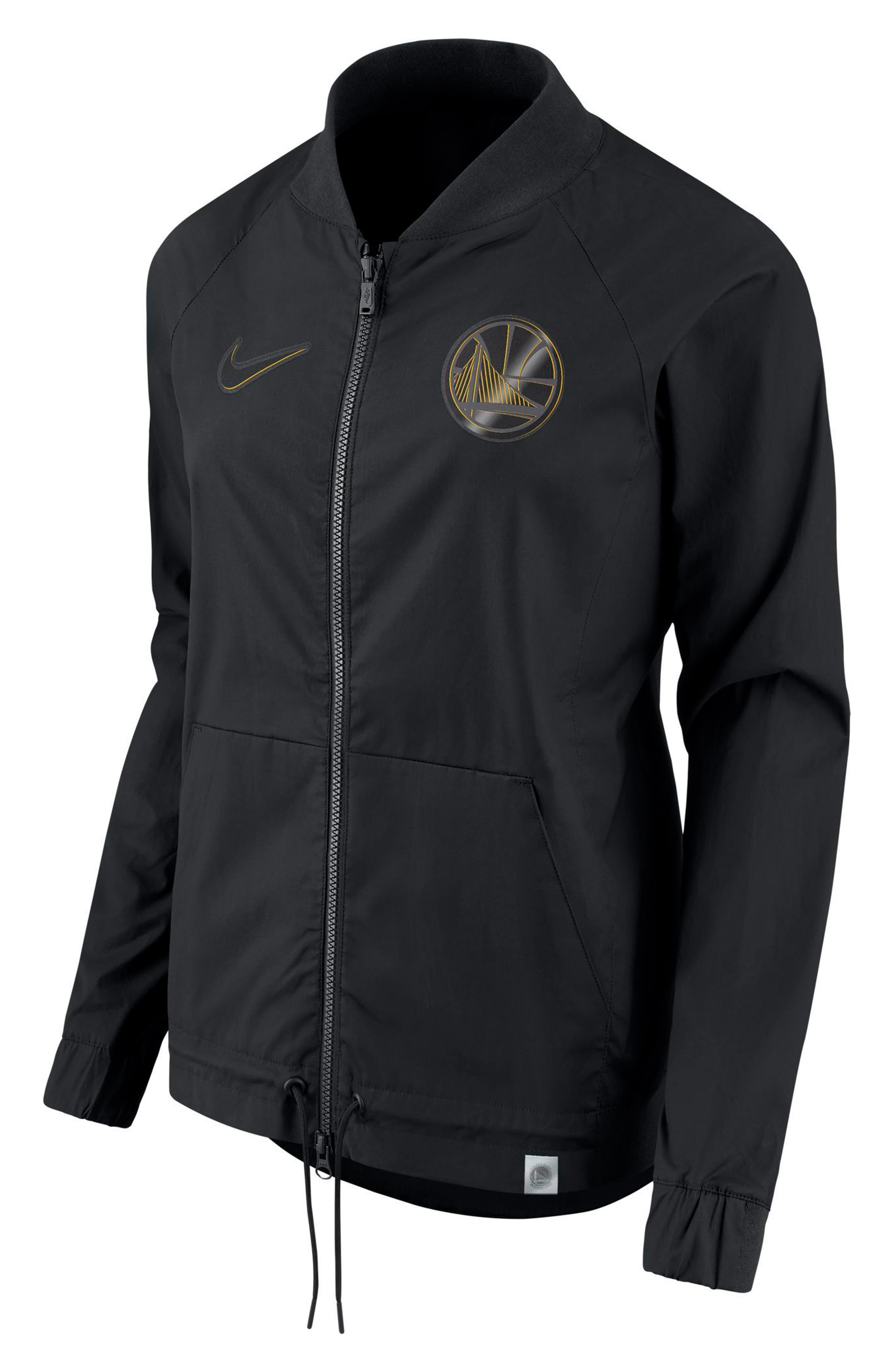 Golden State Warriors Women's NBA Jacket,                         Main,                         color, Black