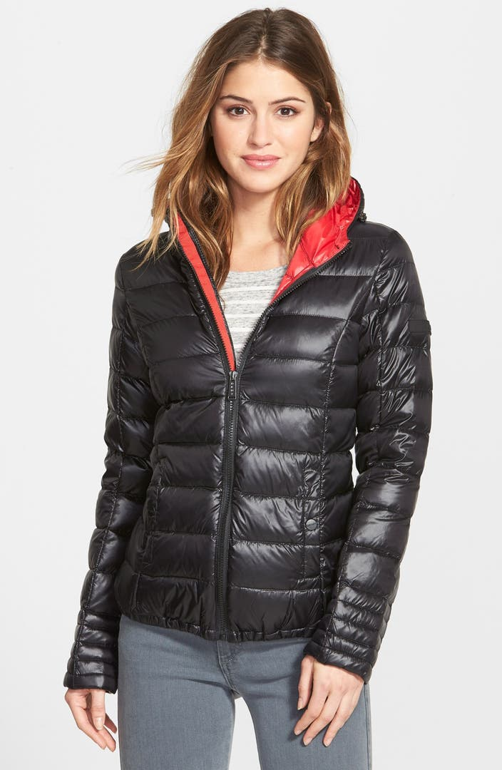 Dkny Hooded Packable Down Jacket Nordstrom