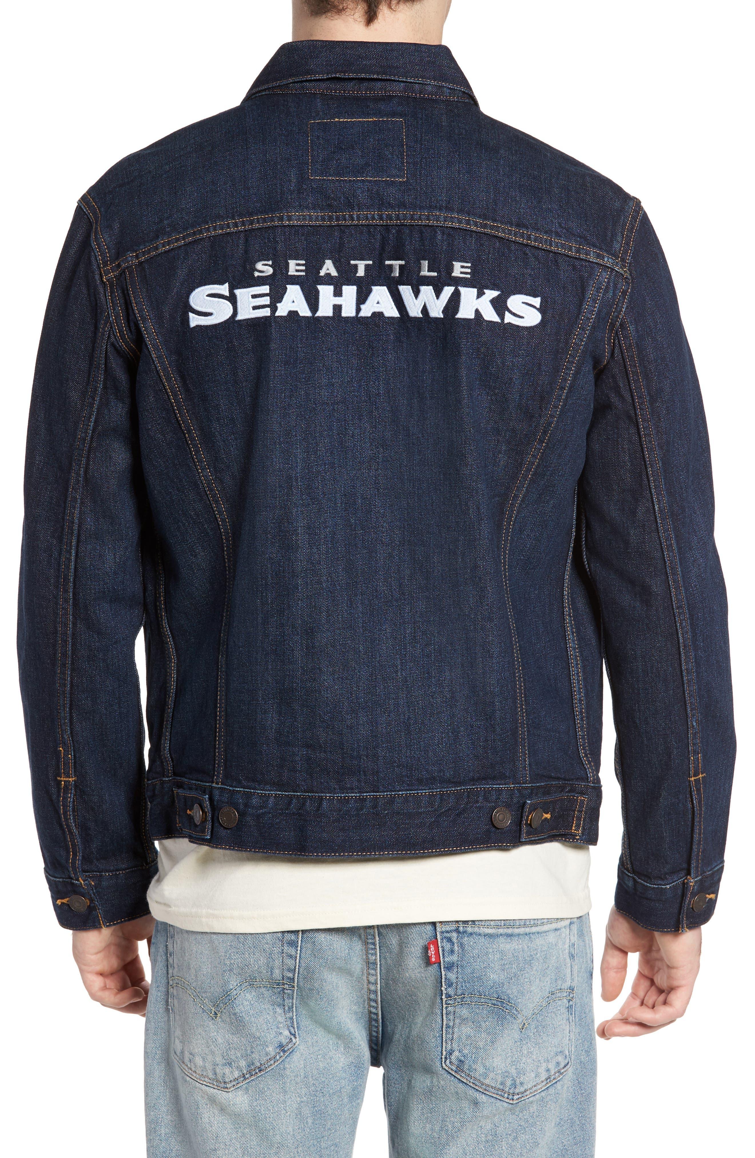 Alternate Image 2  - Levi's® Seattle Seahawks Denim Trucker Jacket