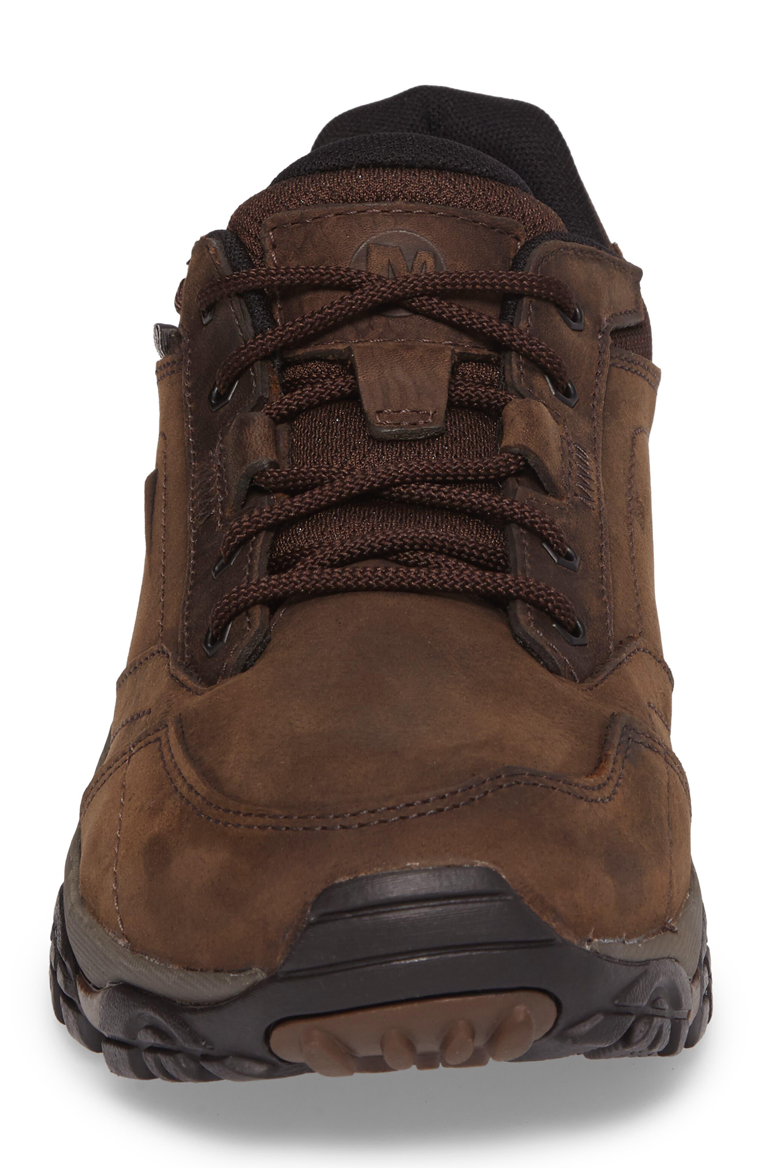 Moab Adventure Hiking Shoe,                             Alternate thumbnail 4, color,                             Dark Earth Nubuck Leather