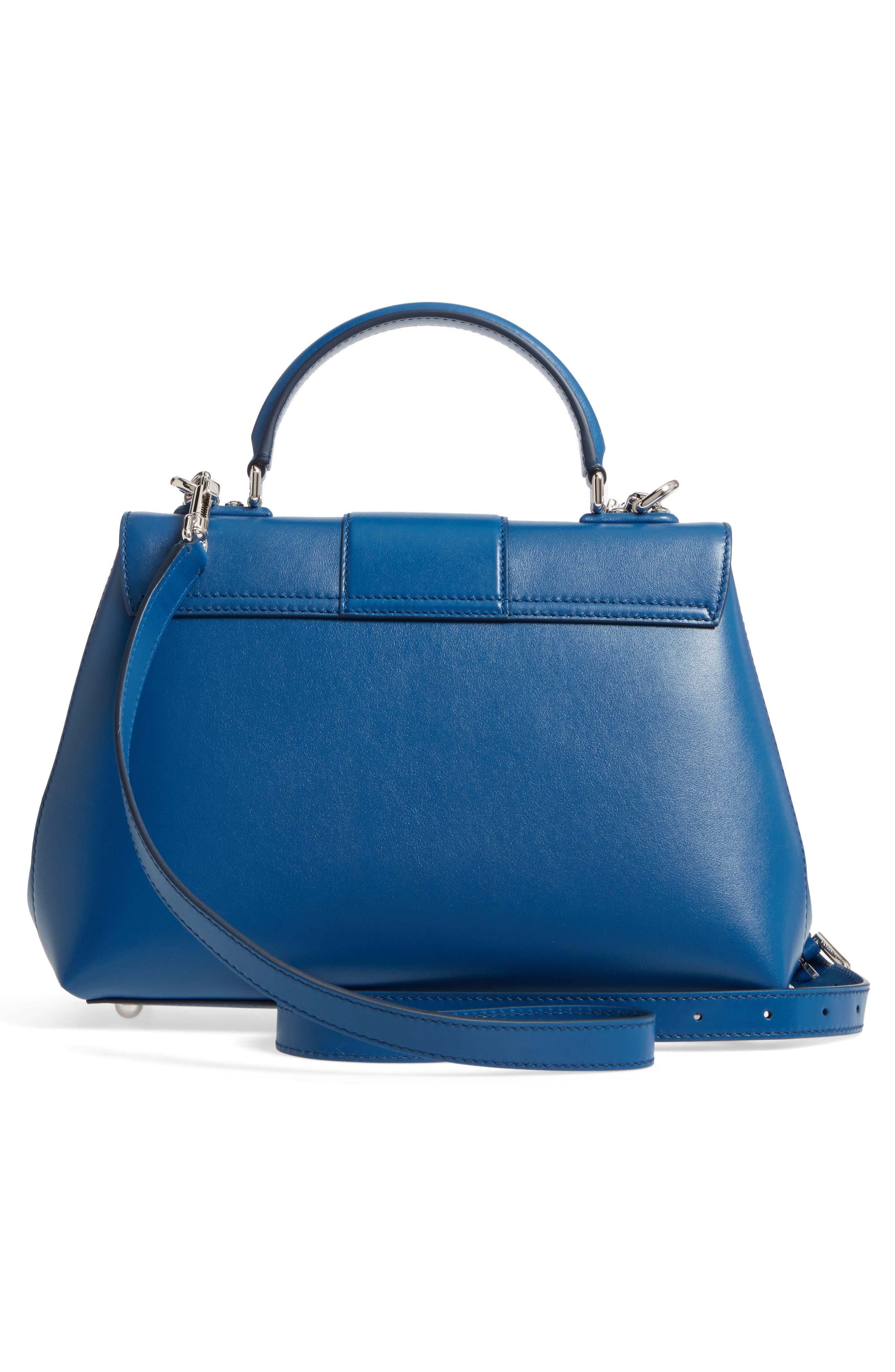 Medium Lucia Leather Satchel,                             Alternate thumbnail 2, color,                             Blue