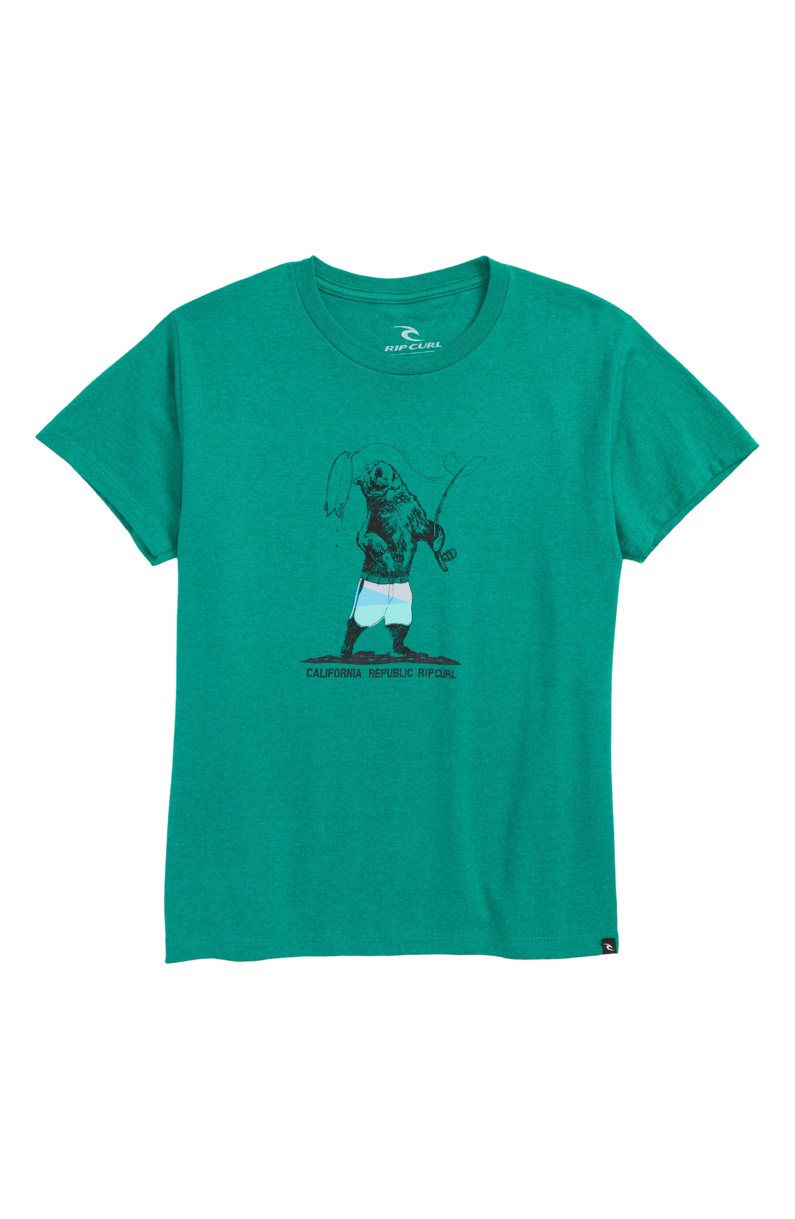 Rip Curl Fishing Bear Graphic T-Shirt (Little Boys & Big Boys)