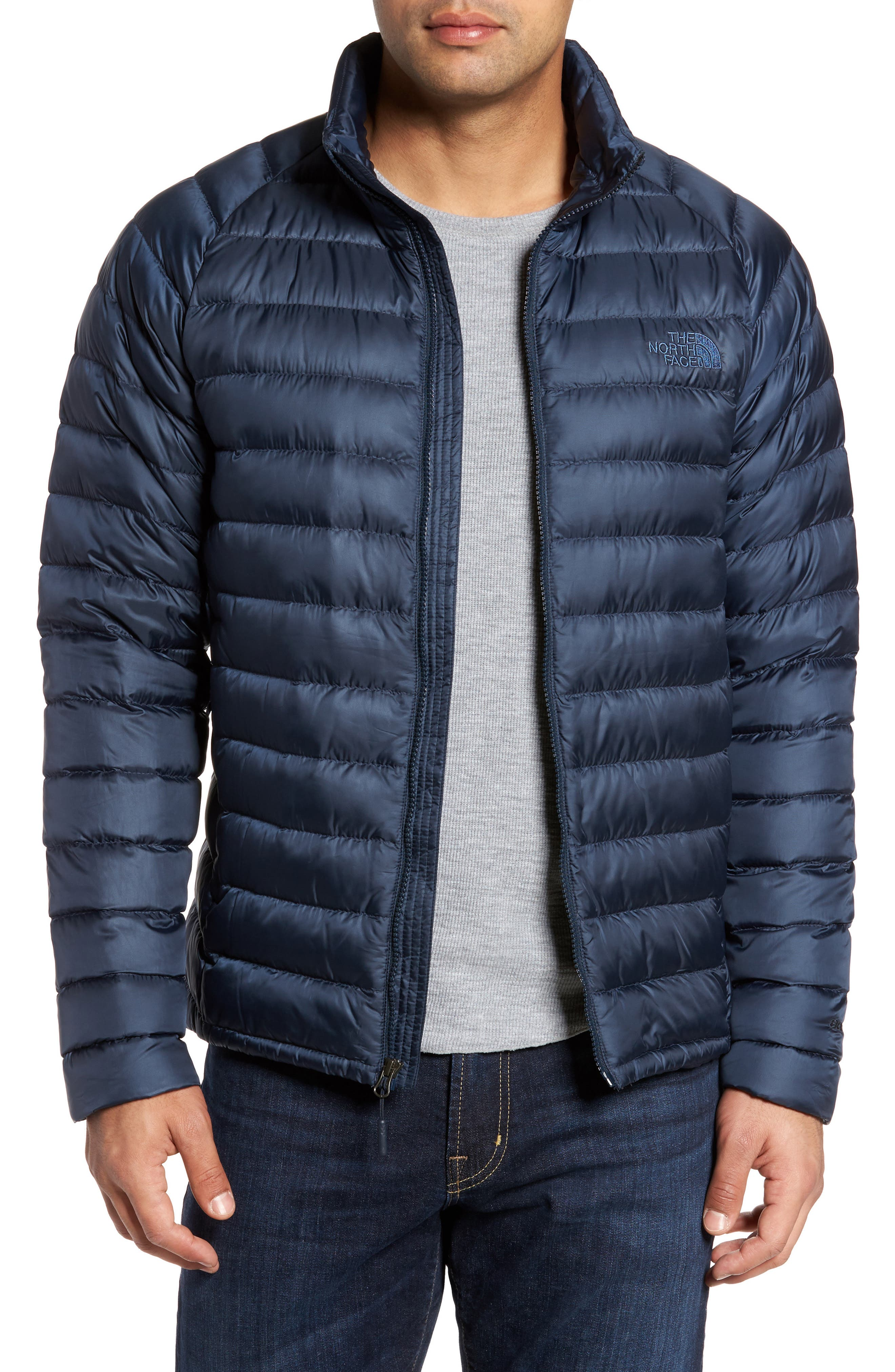 Trevail Water Repellent Packable Down Jacket,                         Main,                         color, Urban Navy/ Urban Navy