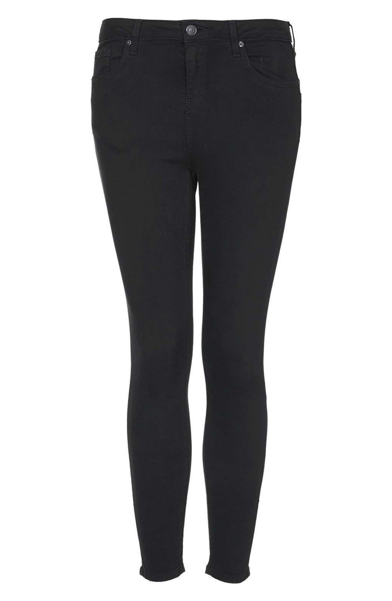 Jamie Ankle Skinny Jeans,                             Alternate thumbnail 3, color,                             Black