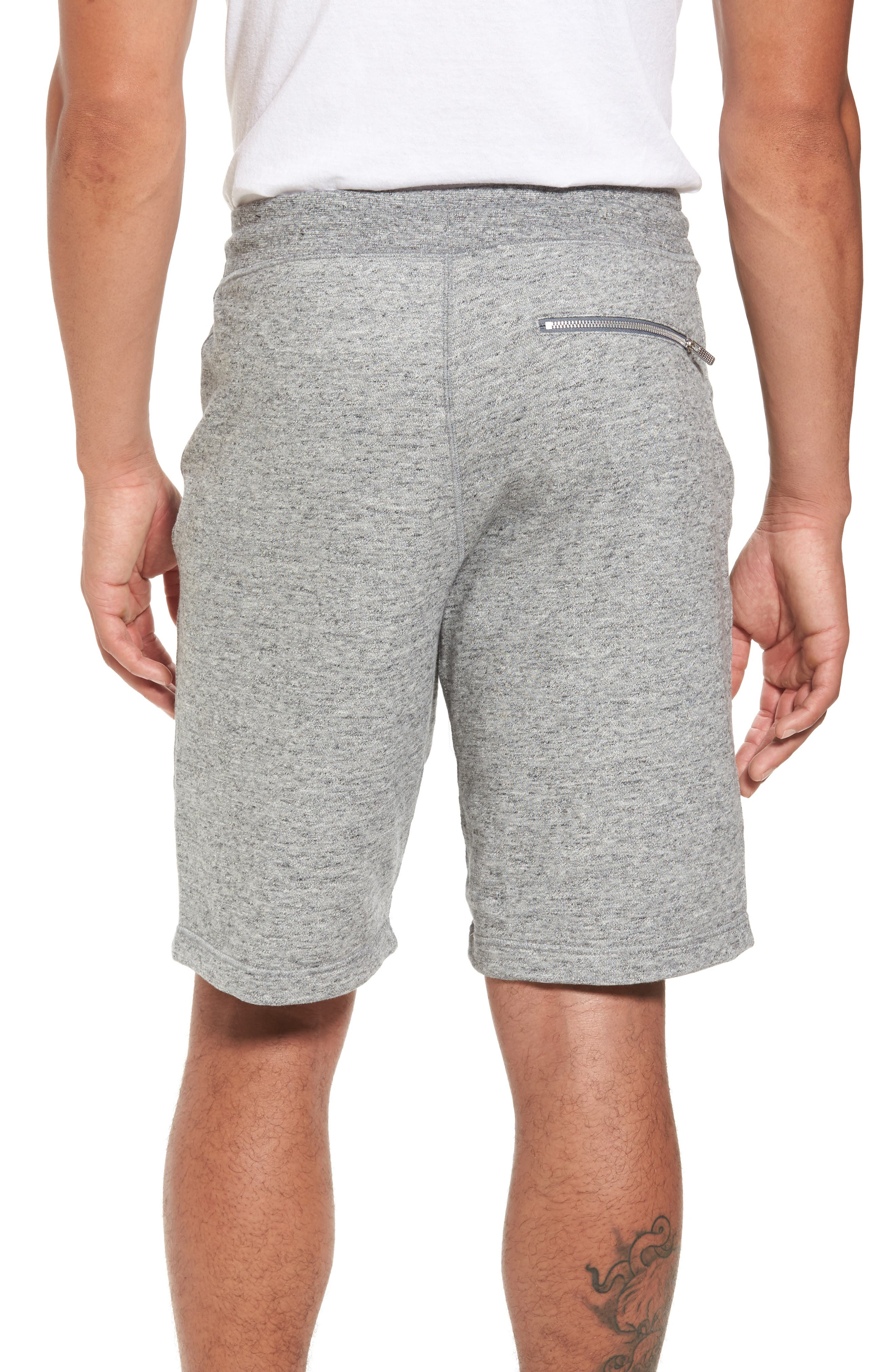 Legacy Knit Shorts,                             Alternate thumbnail 2, color,                             Carbon Heather/ Sail