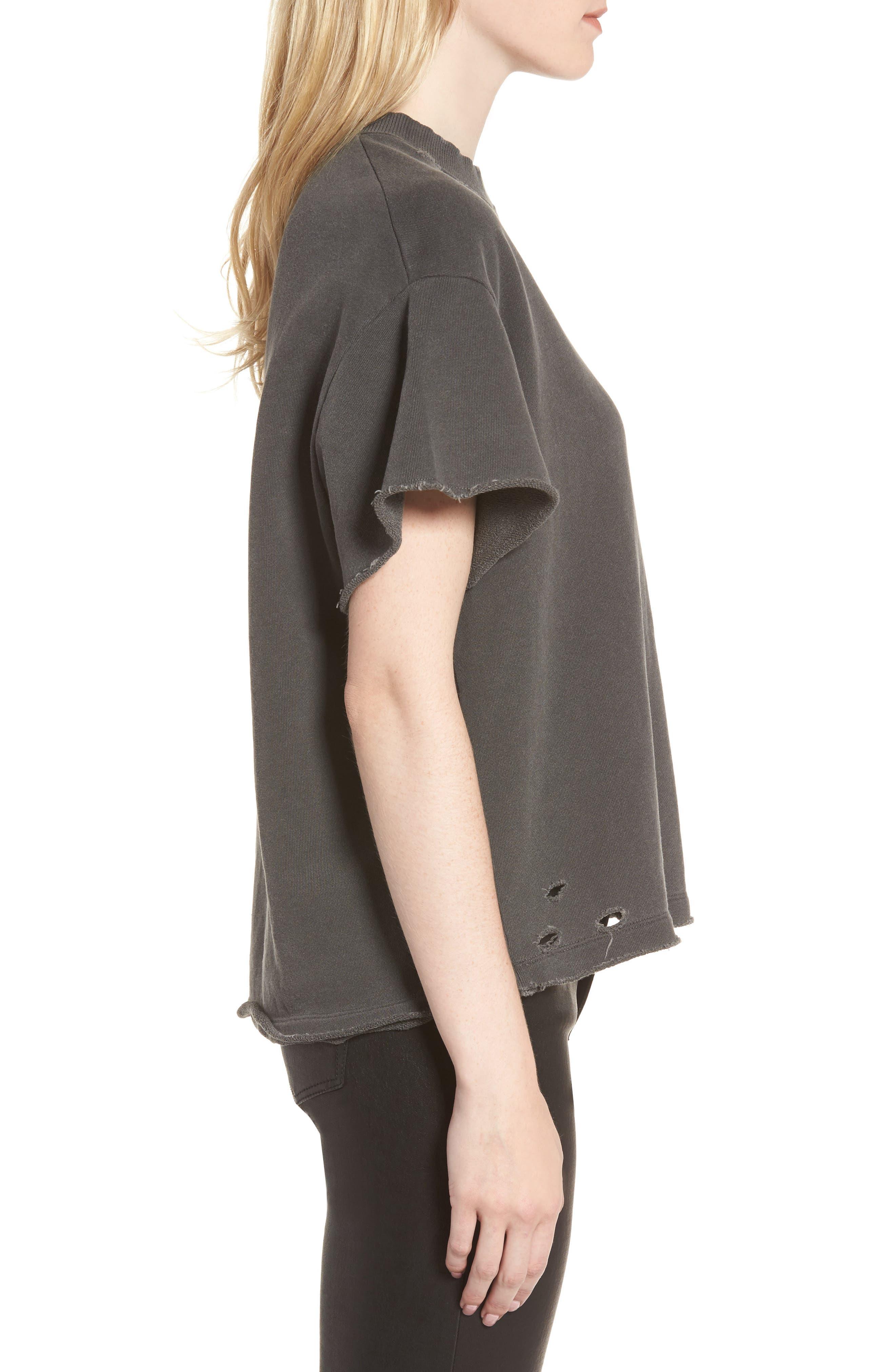 Alternate Image 3  - AG Diana Distressed Sweatshirt