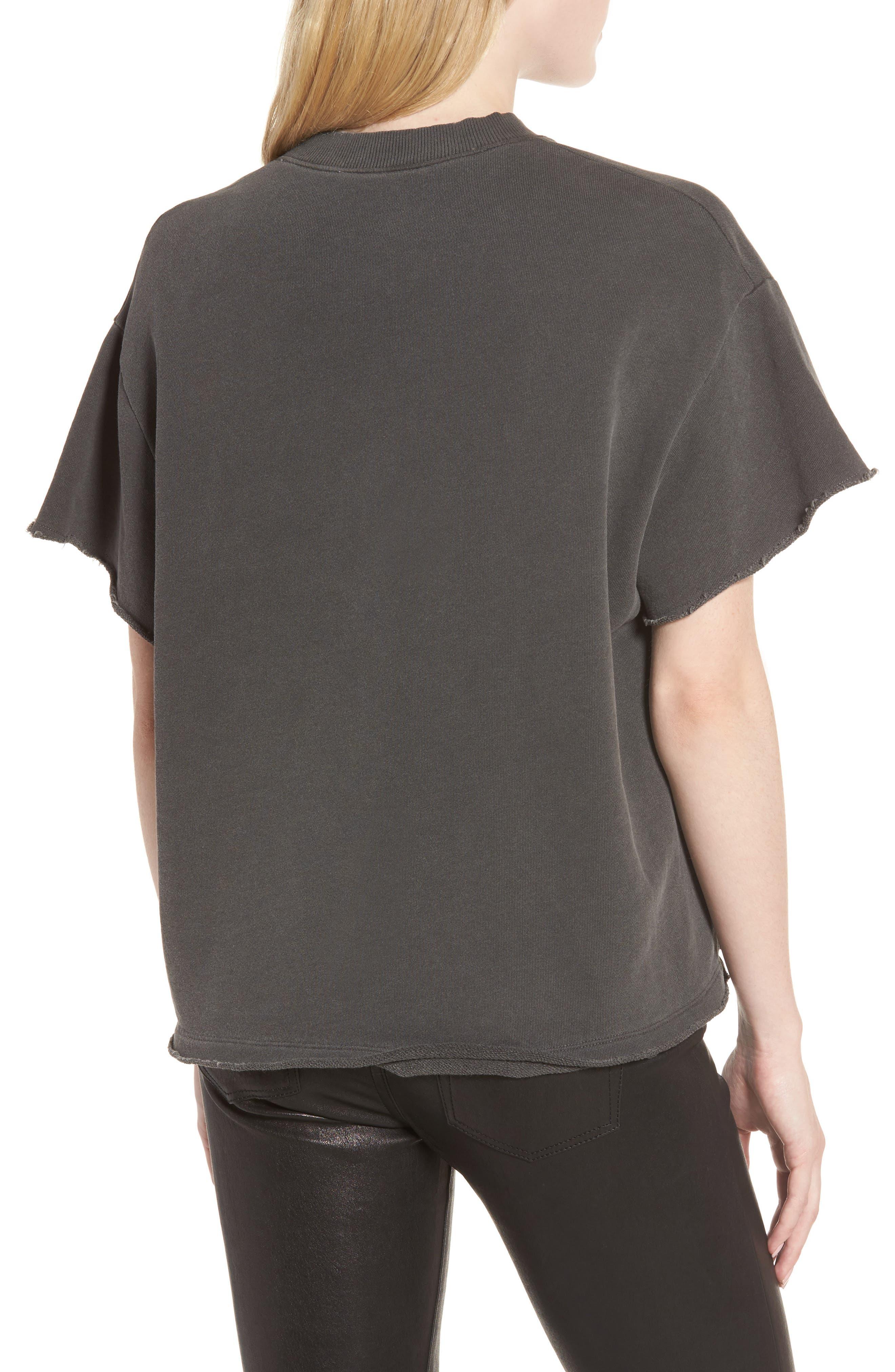 Alternate Image 2  - AG Diana Distressed Sweatshirt