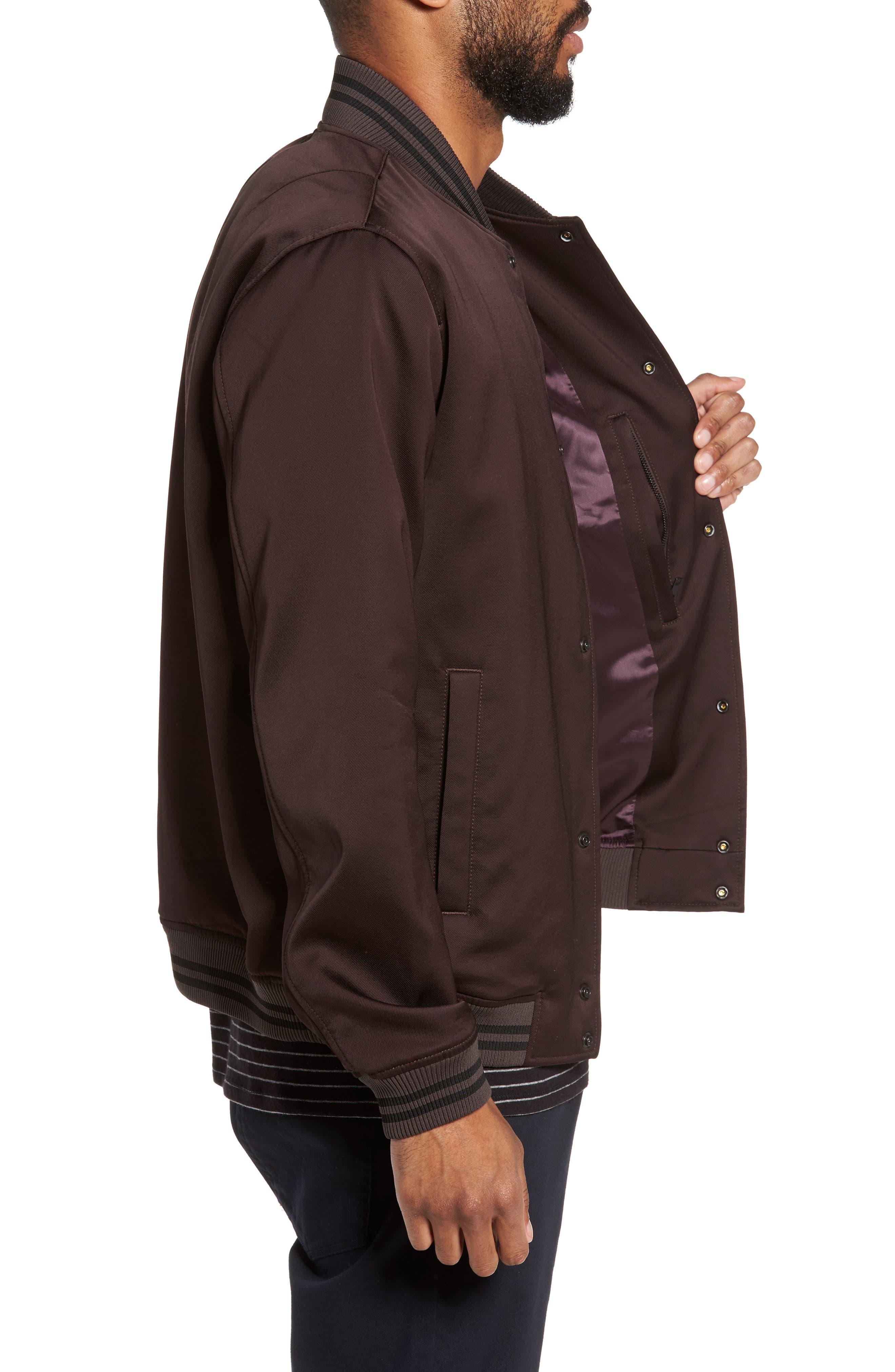 Varsity Jacket,                             Alternate thumbnail 3, color,                             Zinfandel