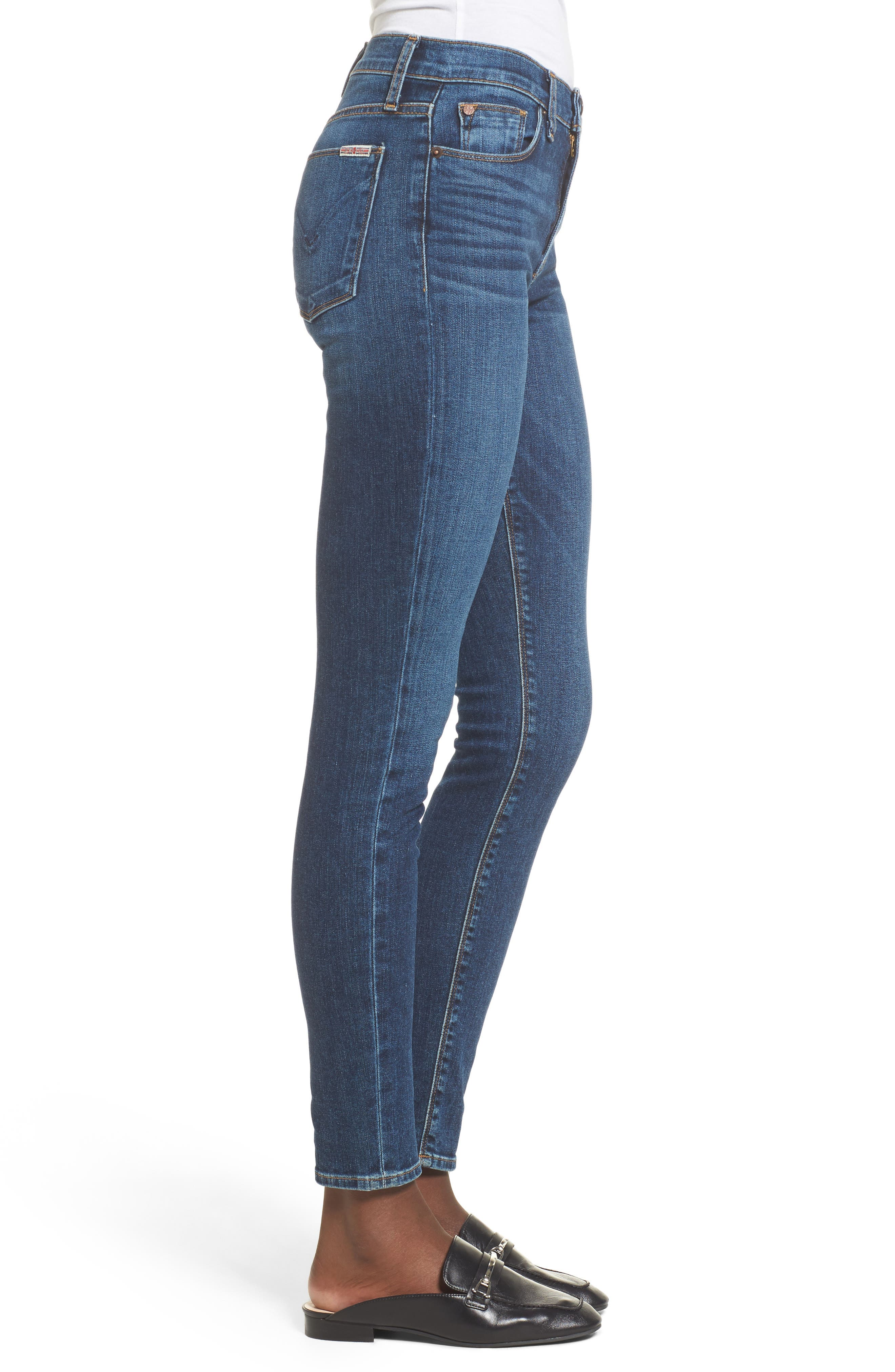 Barbara High Waist Super Skinny Jeans,                             Alternate thumbnail 3, color,                             Realism