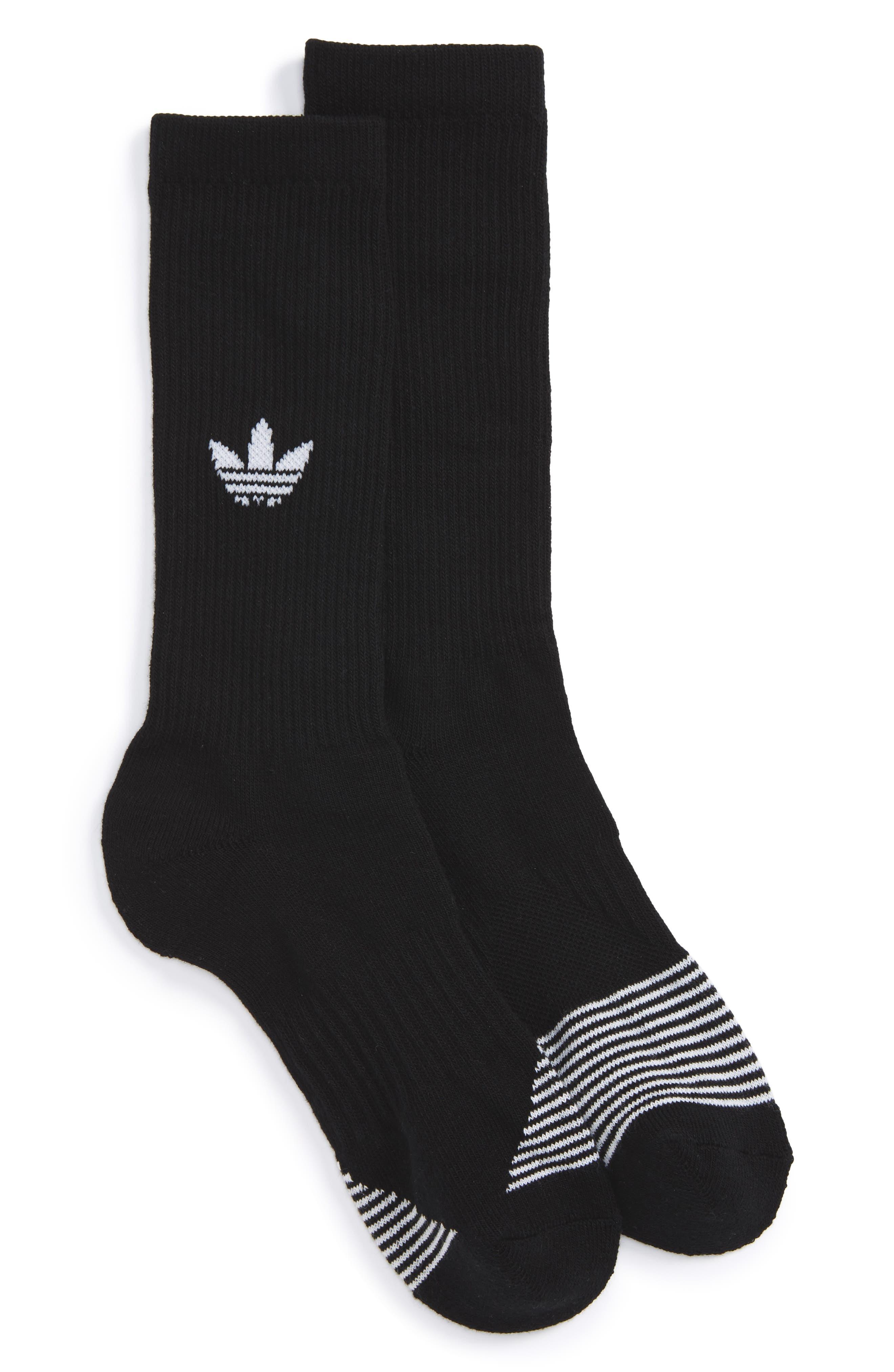 Equipment Crew Socks,                         Main,                         color, Black/ White