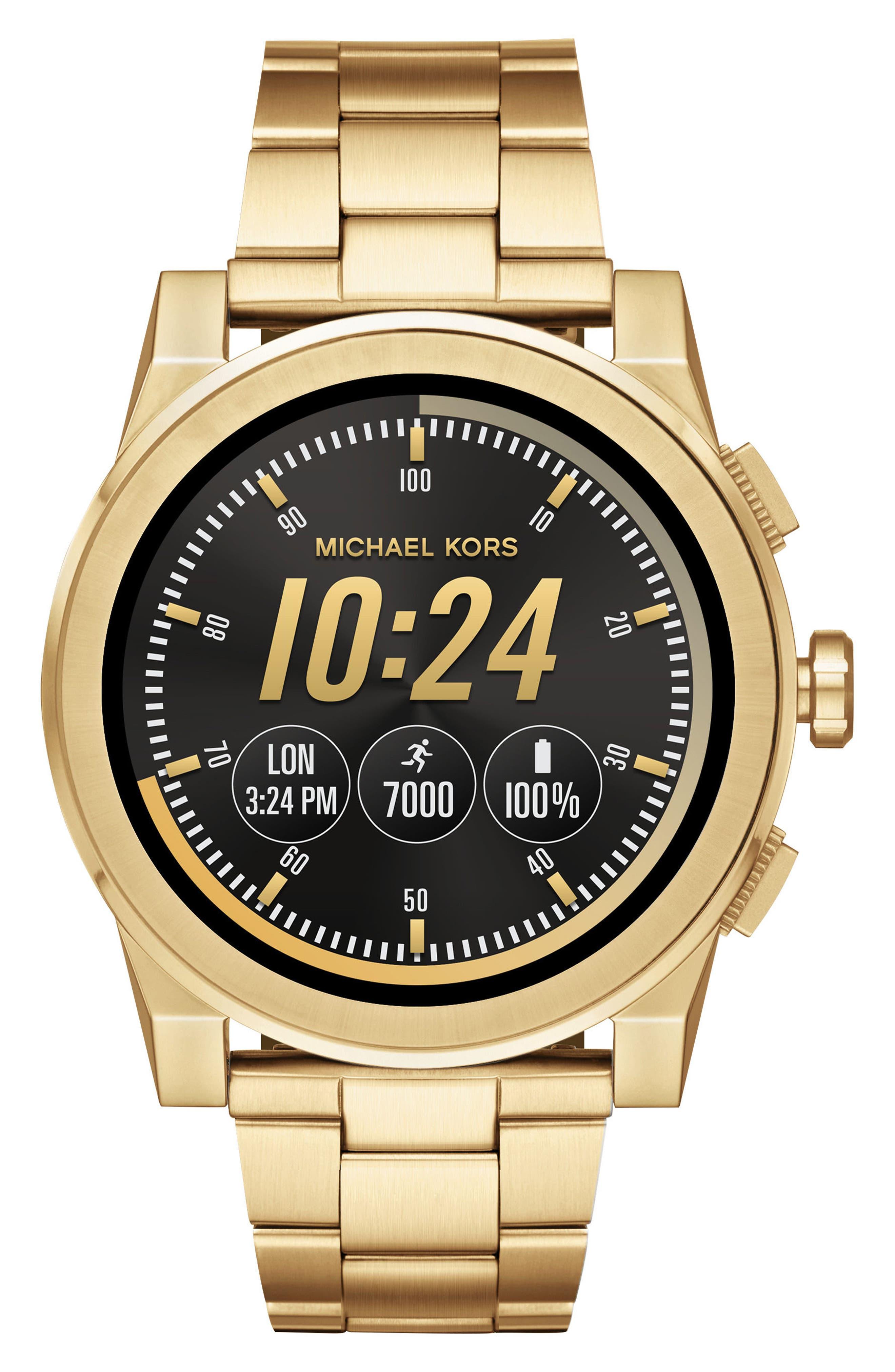 Grayson Smart Bracelet Watch, 47mm,                         Main,                         color, Gold
