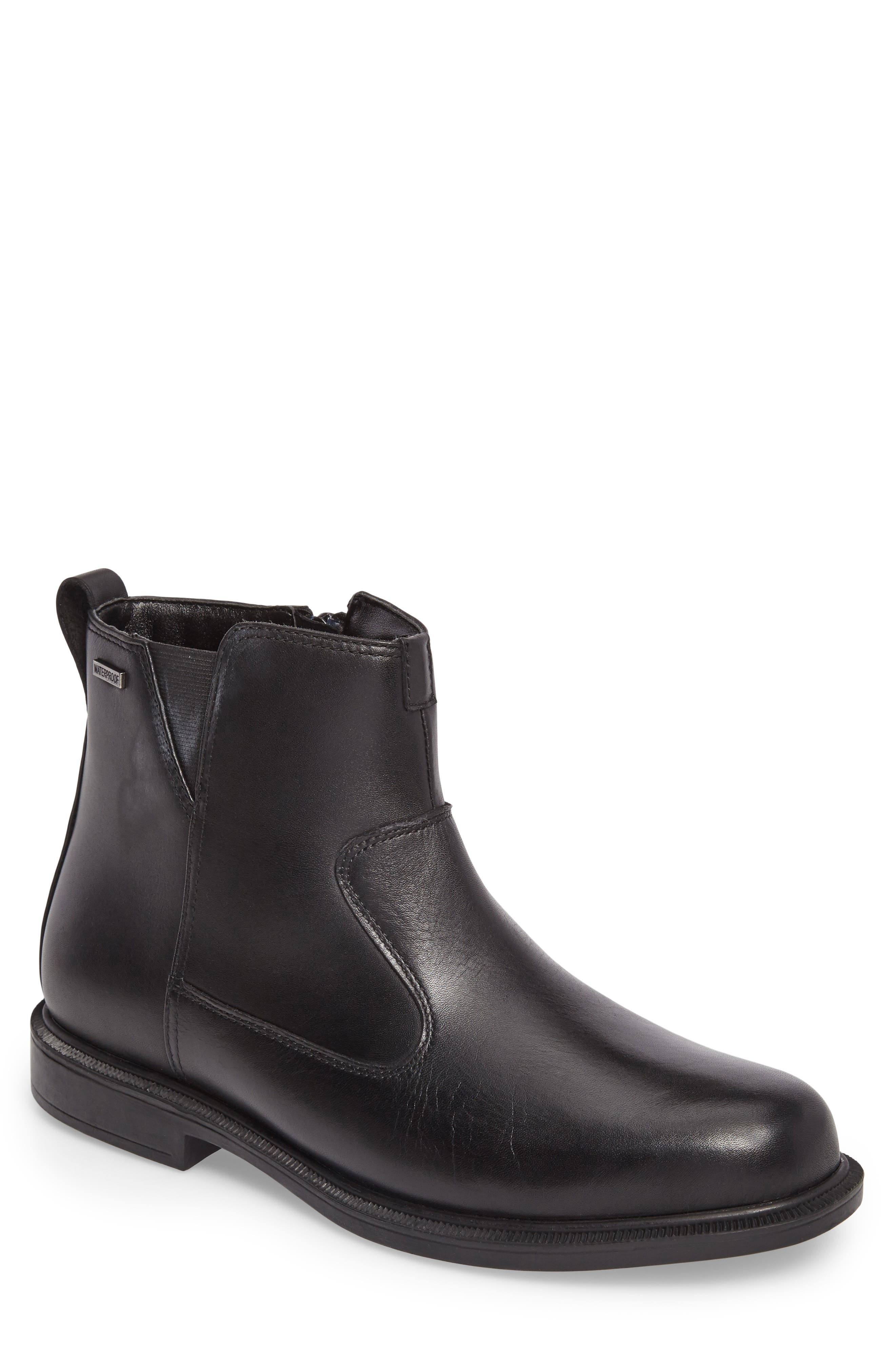 James Zip Boot,                         Main,                         color, Black Leather