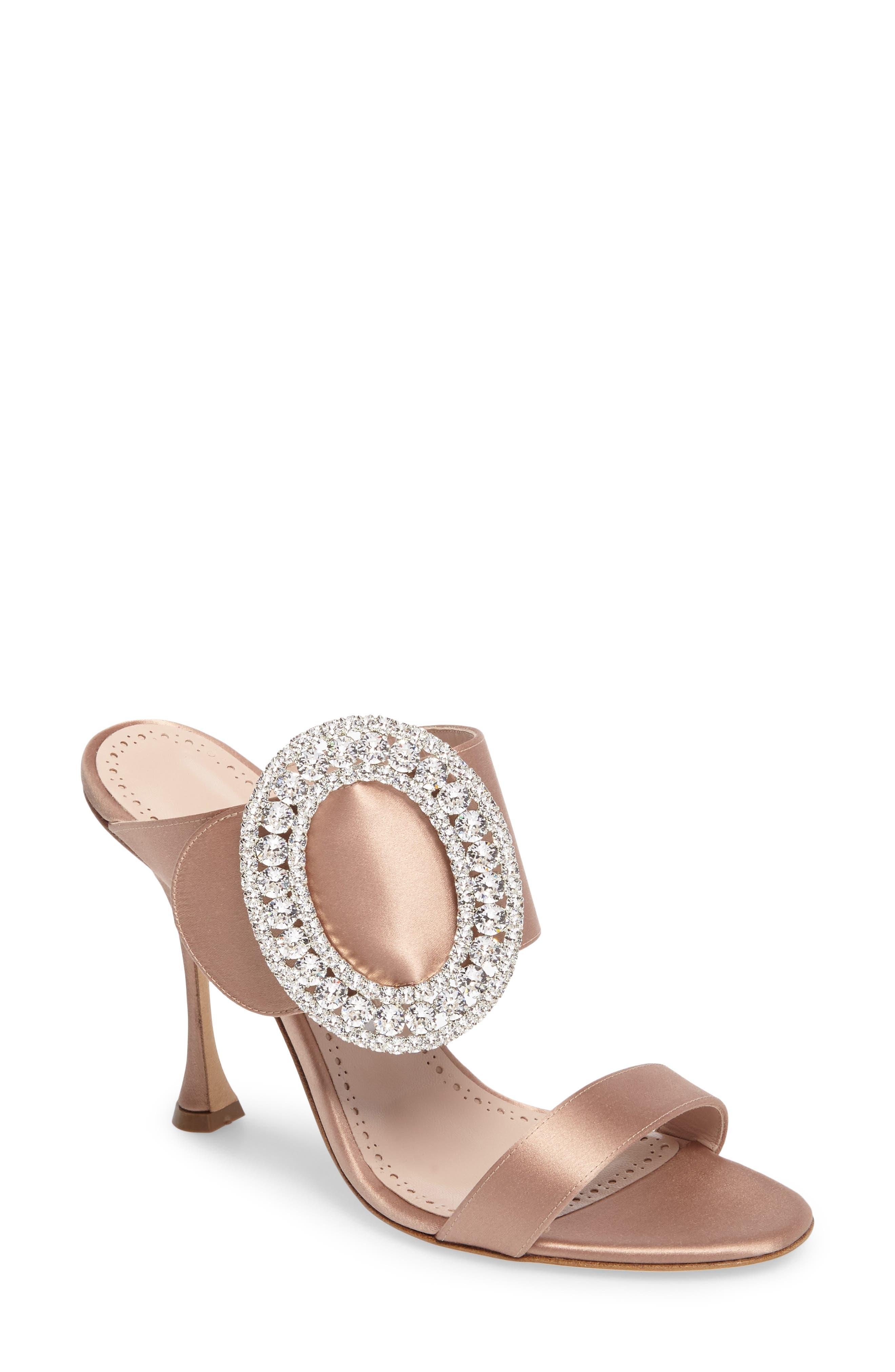 Manolo Blahnik Fibiona Crystal Embellished Mule (Women)
