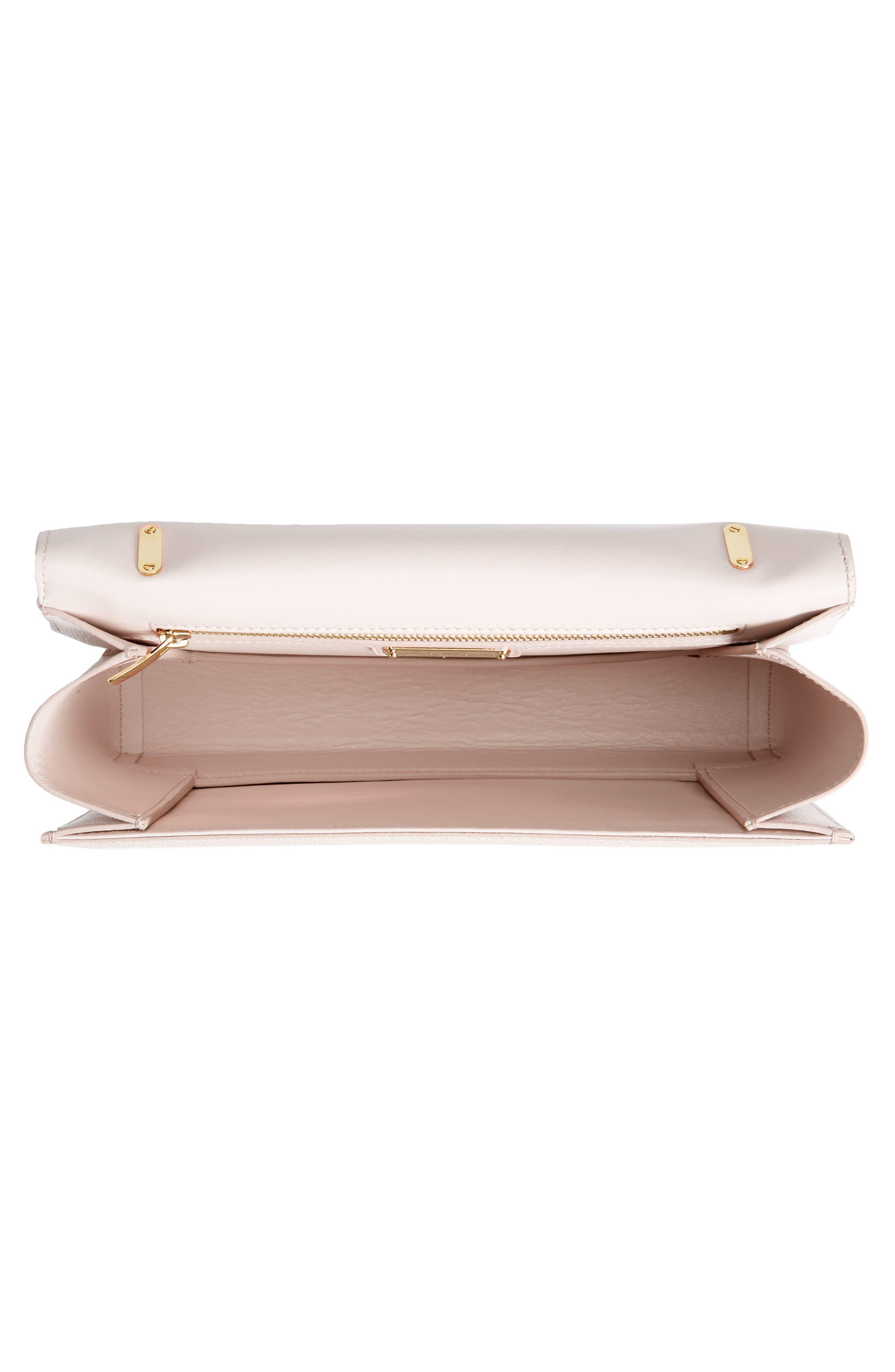Medium Ginny Leather Shoulder Bag,                             Alternate thumbnail 4, color,                             Jasmine Flower