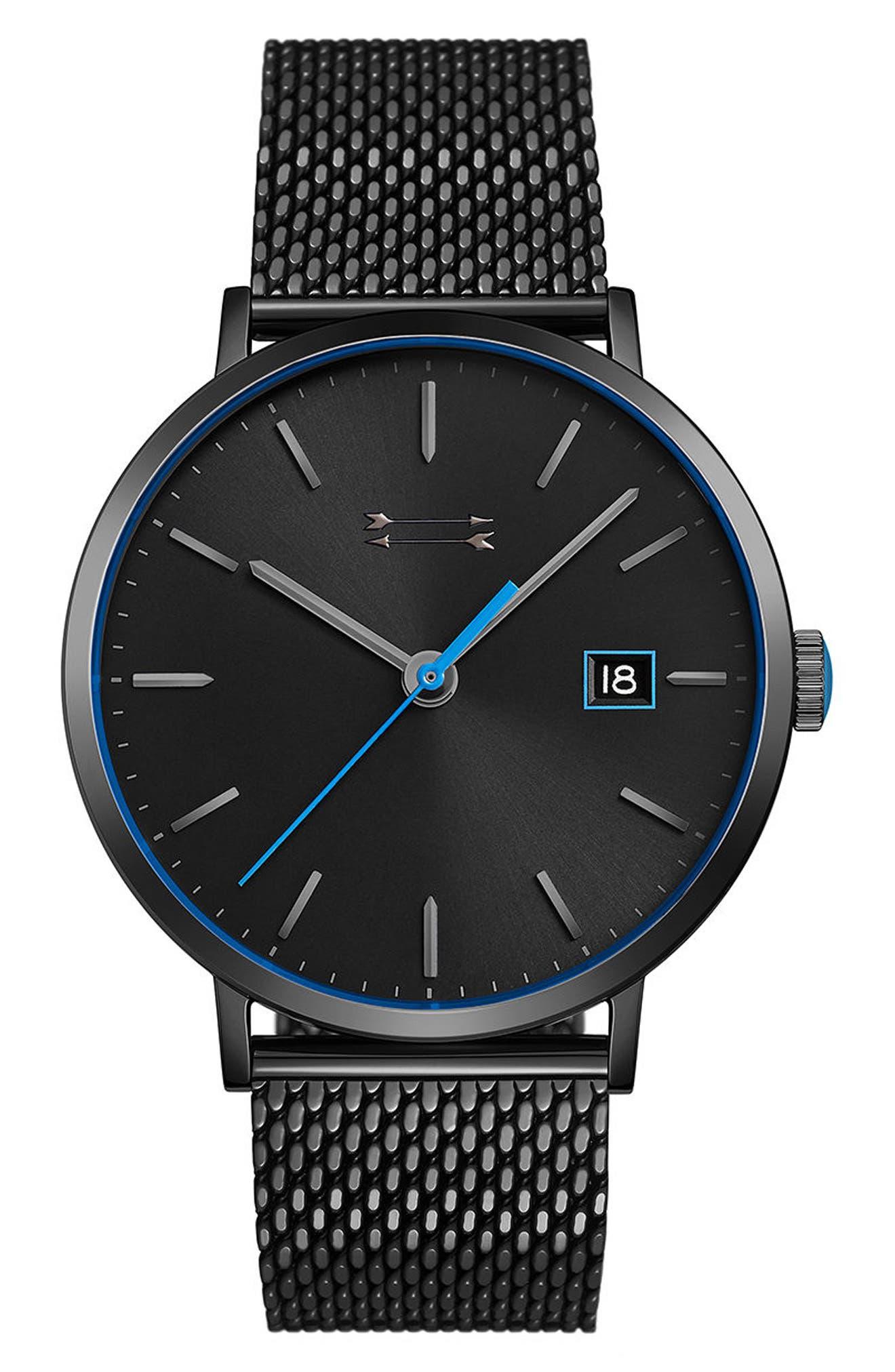 Norrebro Mesh Bracelet Watch, 40mm,                         Main,                         color, Black