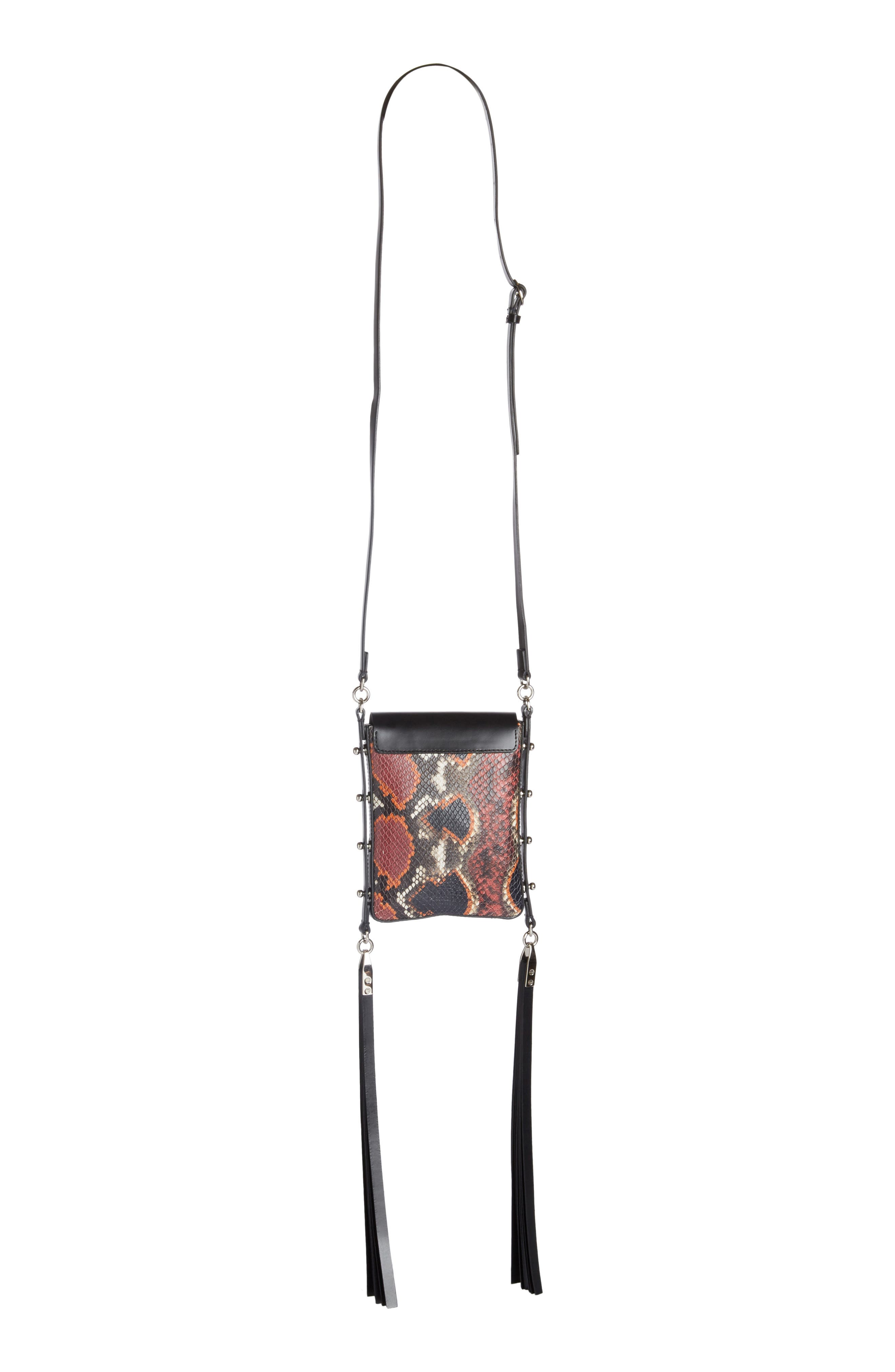 Alternate Image 2  - Isabel Marant Teinsy Fringed Snake Embossed Leather Crossbody Bag