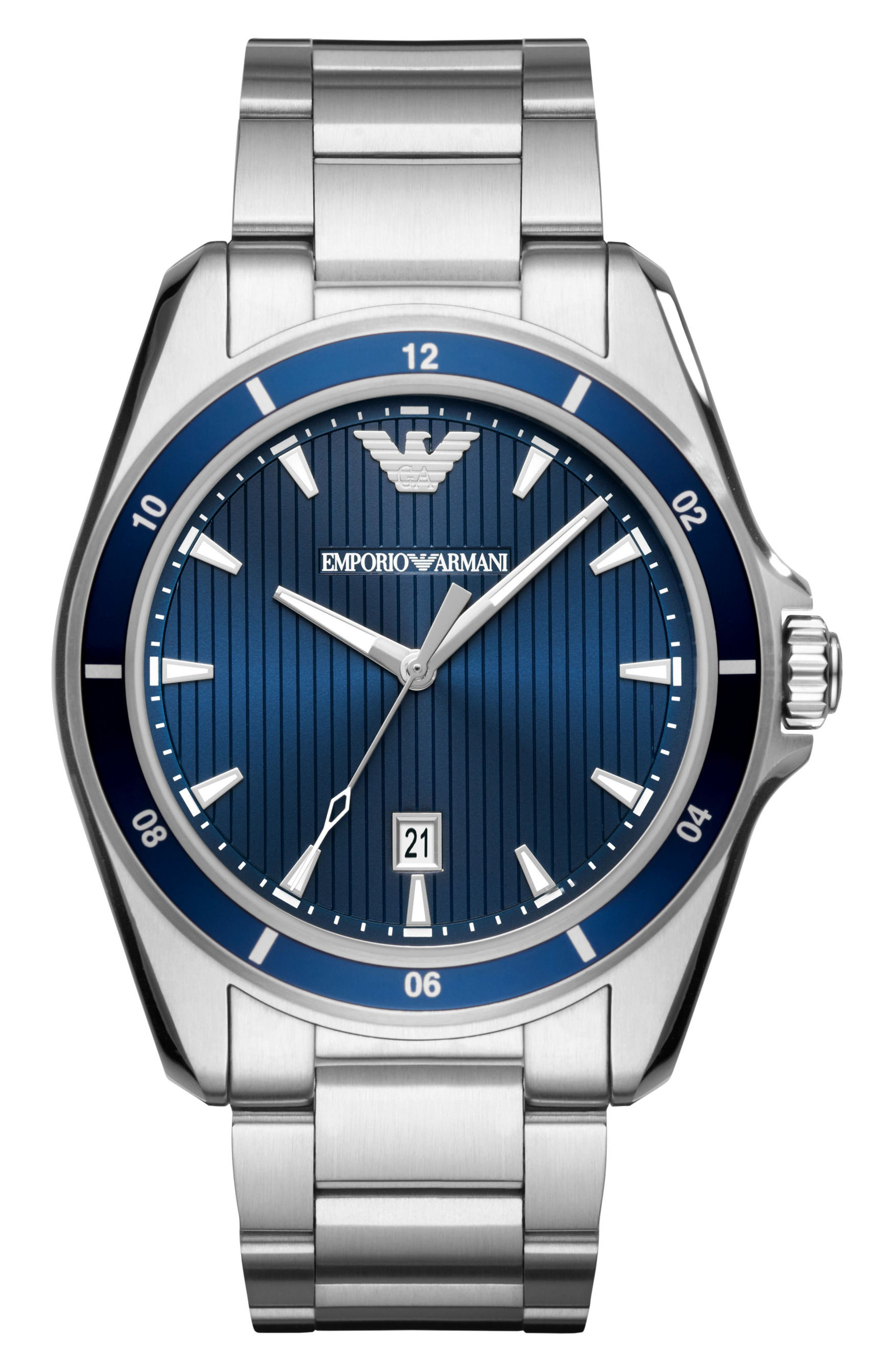 Main Image - Emporio Armani Round Bracelet Watch, 44mm