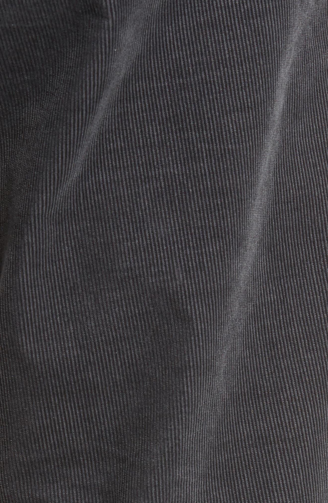 Five-Pocket Stretch Corduroy Pants,                             Alternate thumbnail 5, color,                             Granite