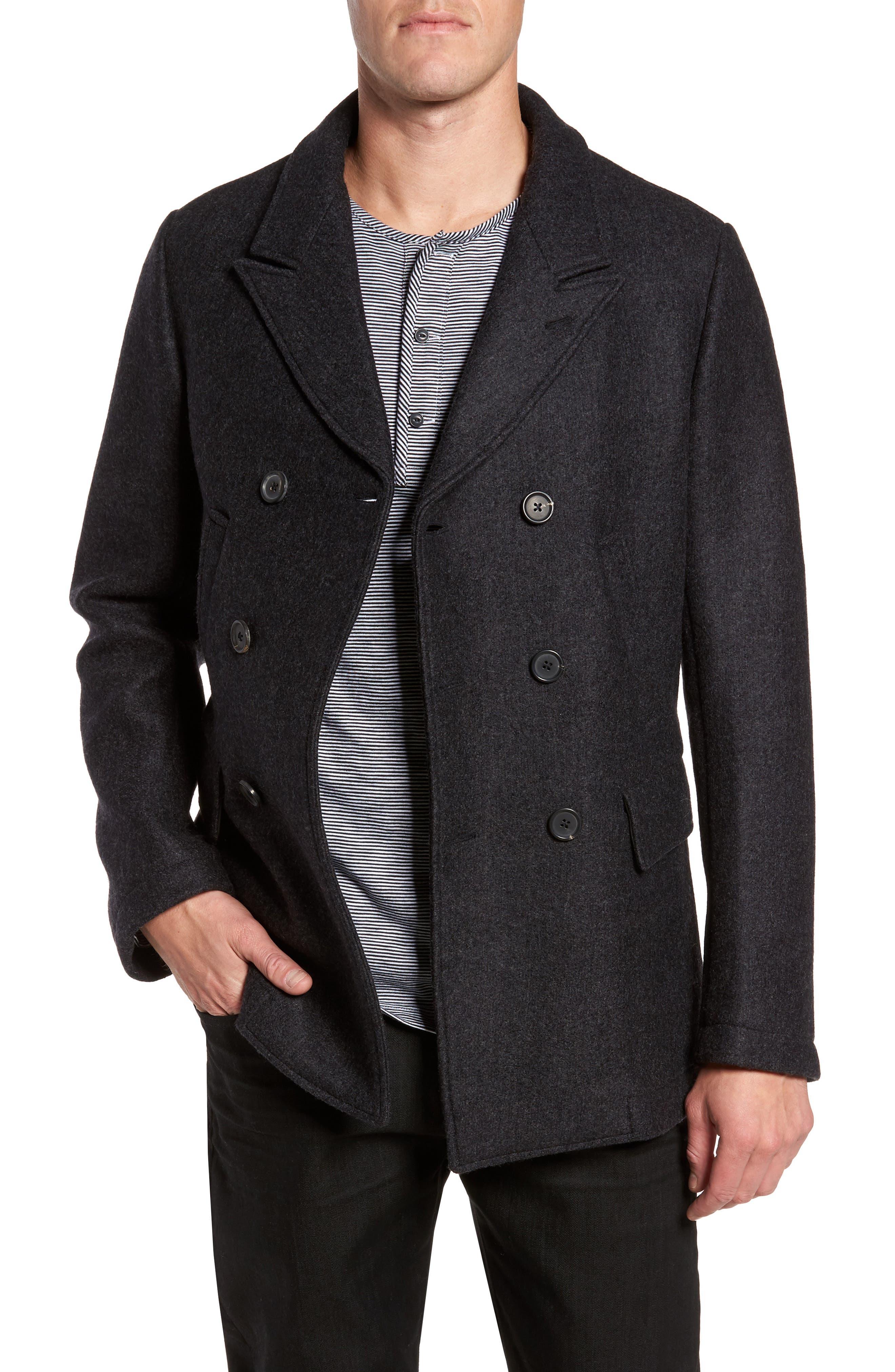 Billy Reid Bond Wool Peacoat