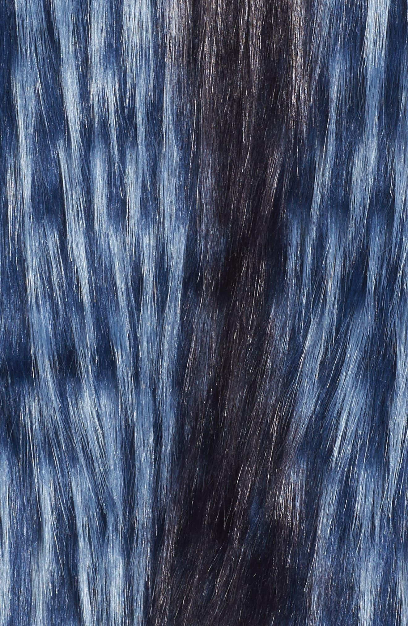 Dion Faux Fur Vest,                             Alternate thumbnail 5, color,                             Blue