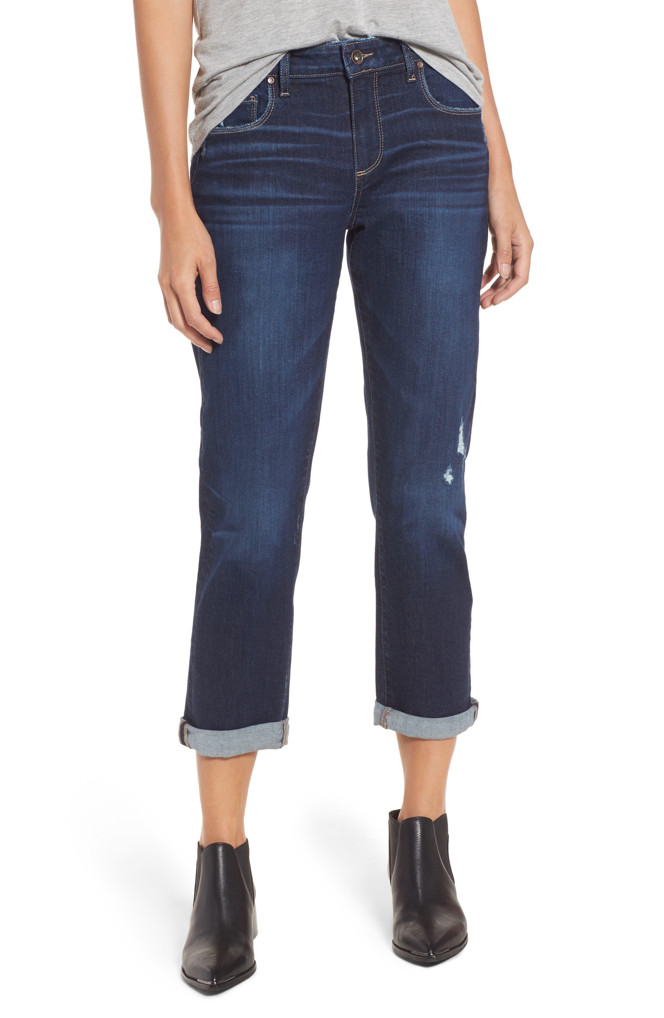 PAIGE Brigitte High Waist Crop Boyfriend Jeans