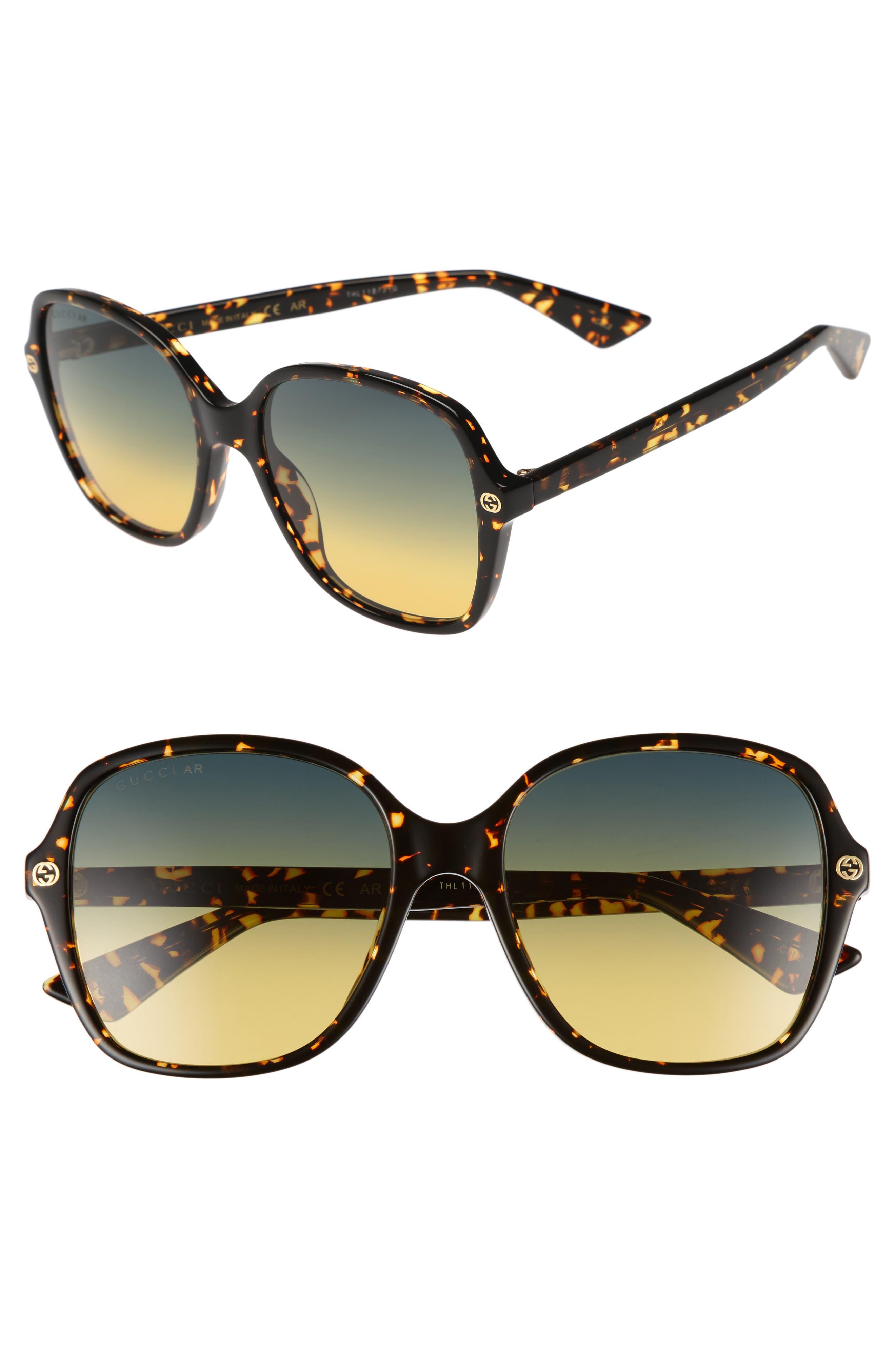 Gucci 55mm Gradient Sunglasses
