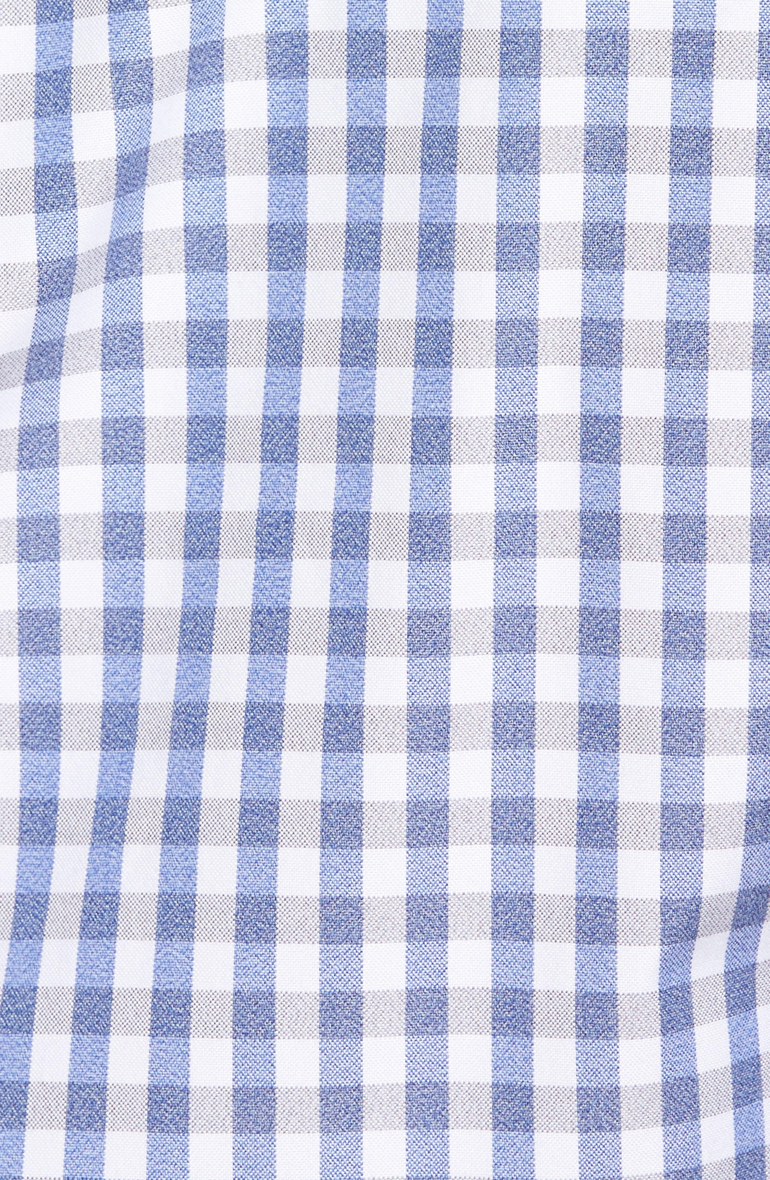 Gingham Sport Shirt,                             Alternate thumbnail 5, color,                             Blue