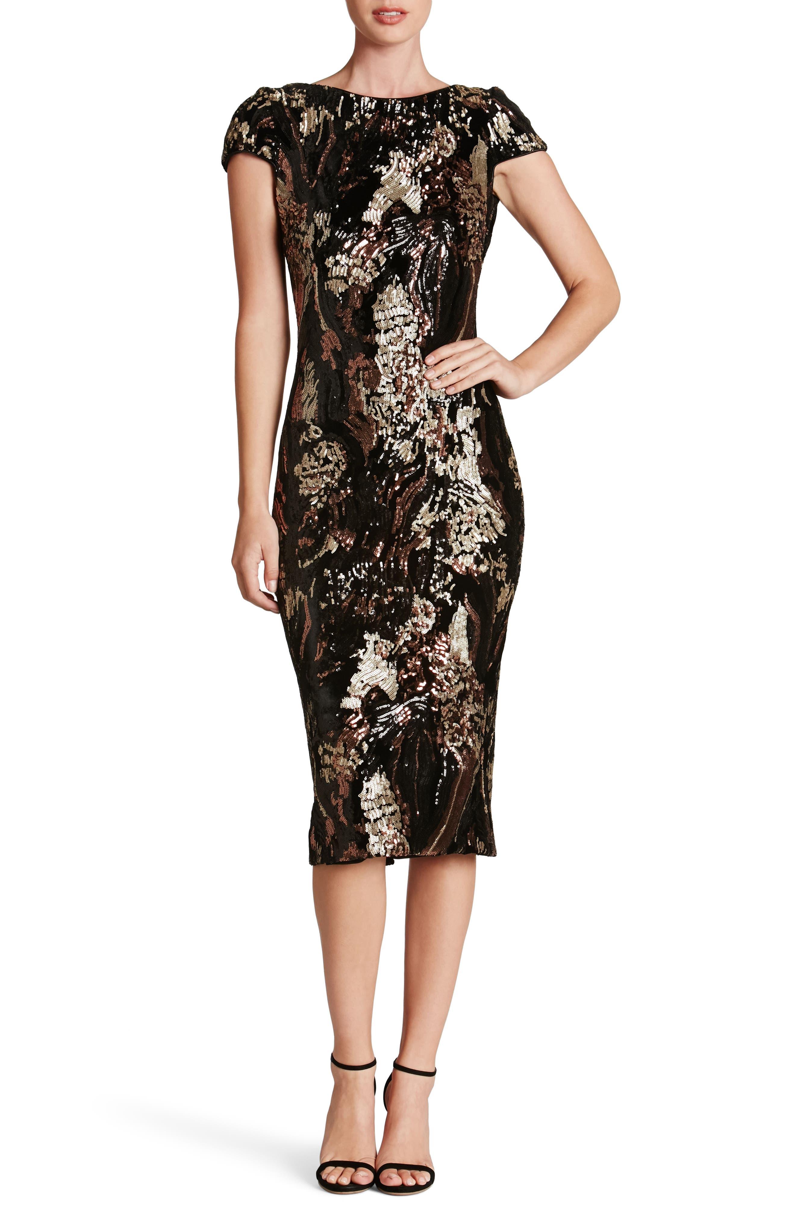 Dress the Population Marcella Sequin Body-Con Dress