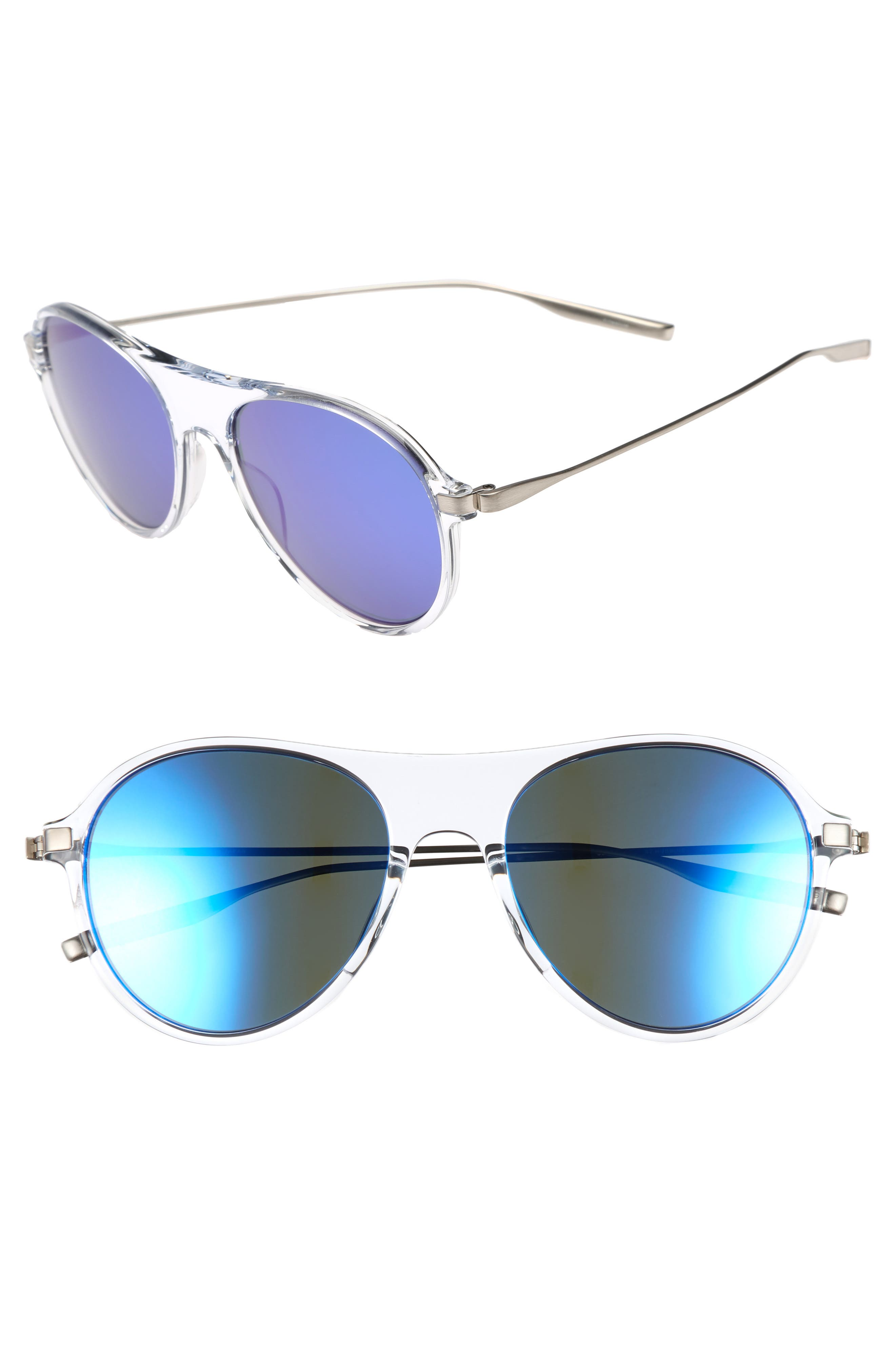 St. Hubbins 55mm Polarized Sunglasses,                             Main thumbnail 1, color,                             Crystal / Tempest
