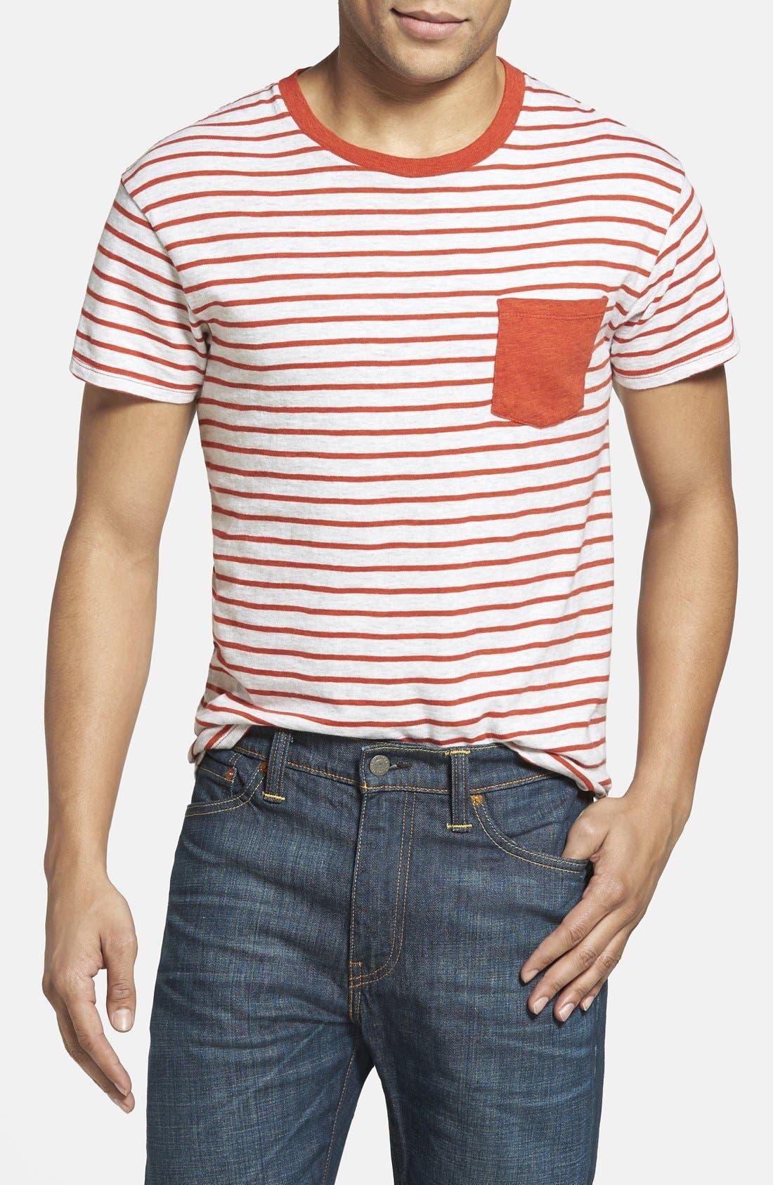 Alternate Image 1 Selected - Grayers Breton Stripe Crewneck T-Shirt