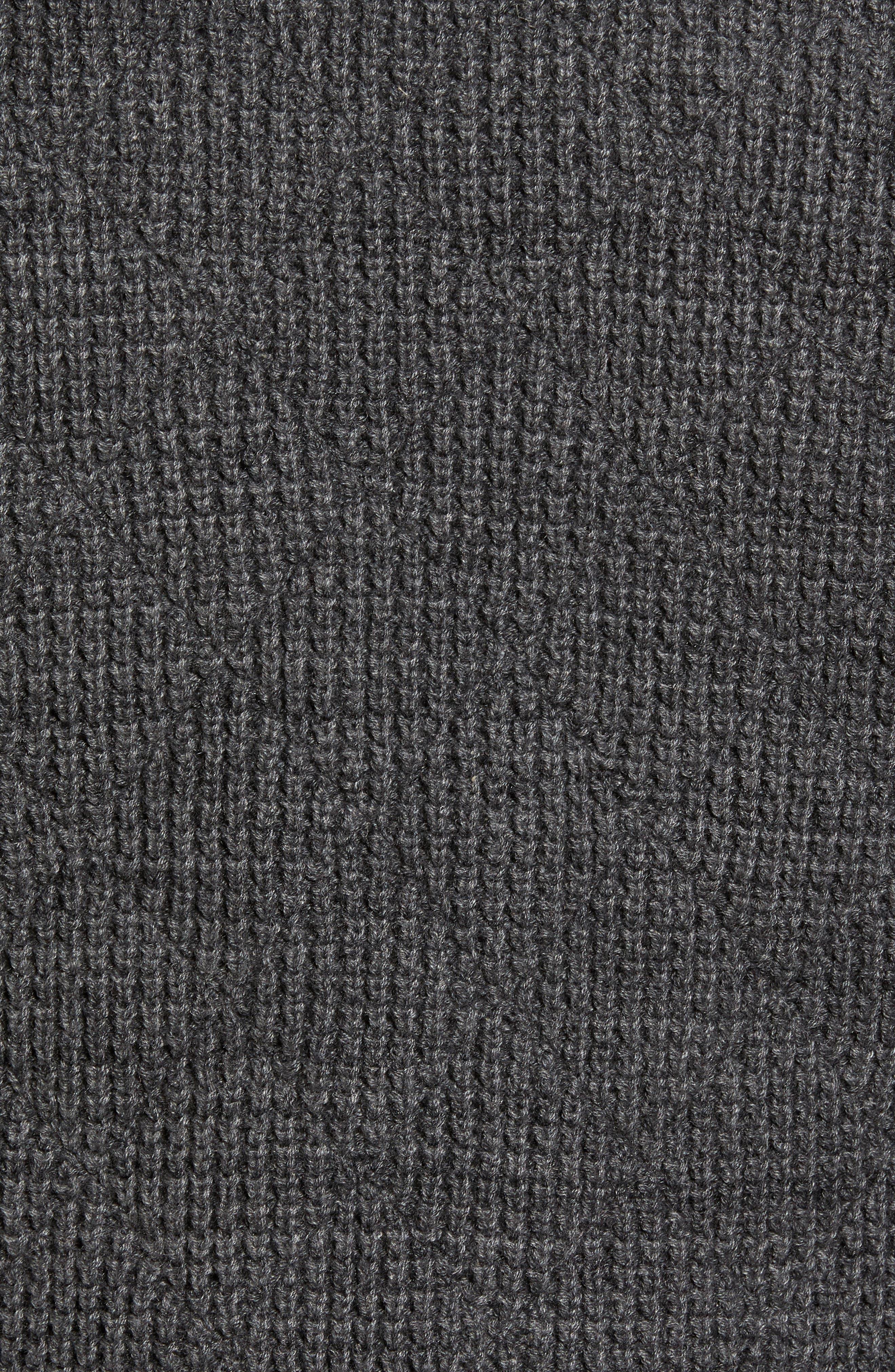 Mixed Media Full Zip Sweater,                             Alternate thumbnail 5, color,                             Grey Dark Charcoal Spacedye