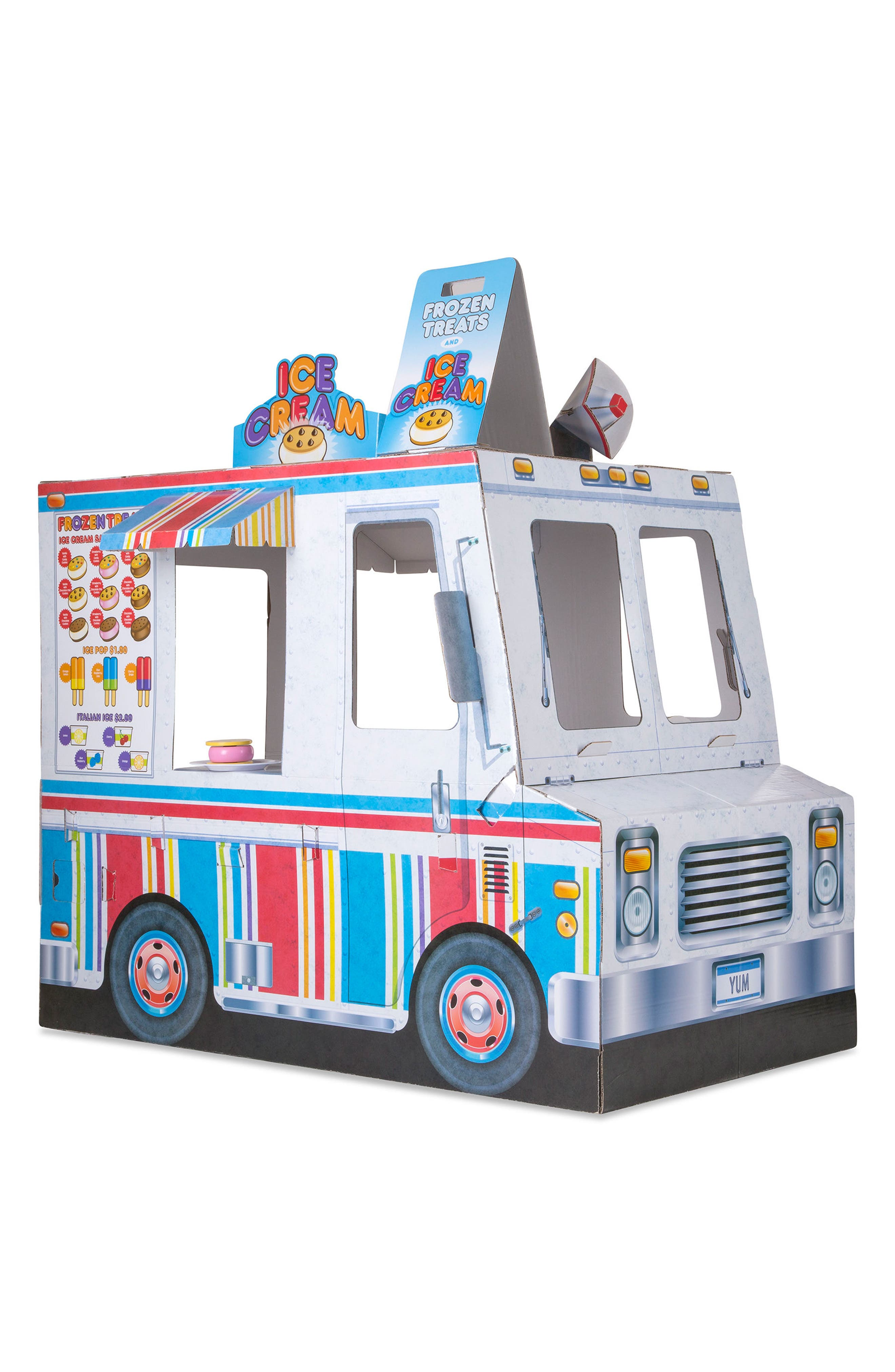 Ice Cream & Food Truck Indoor Playhouse,                         Main,                         color, White