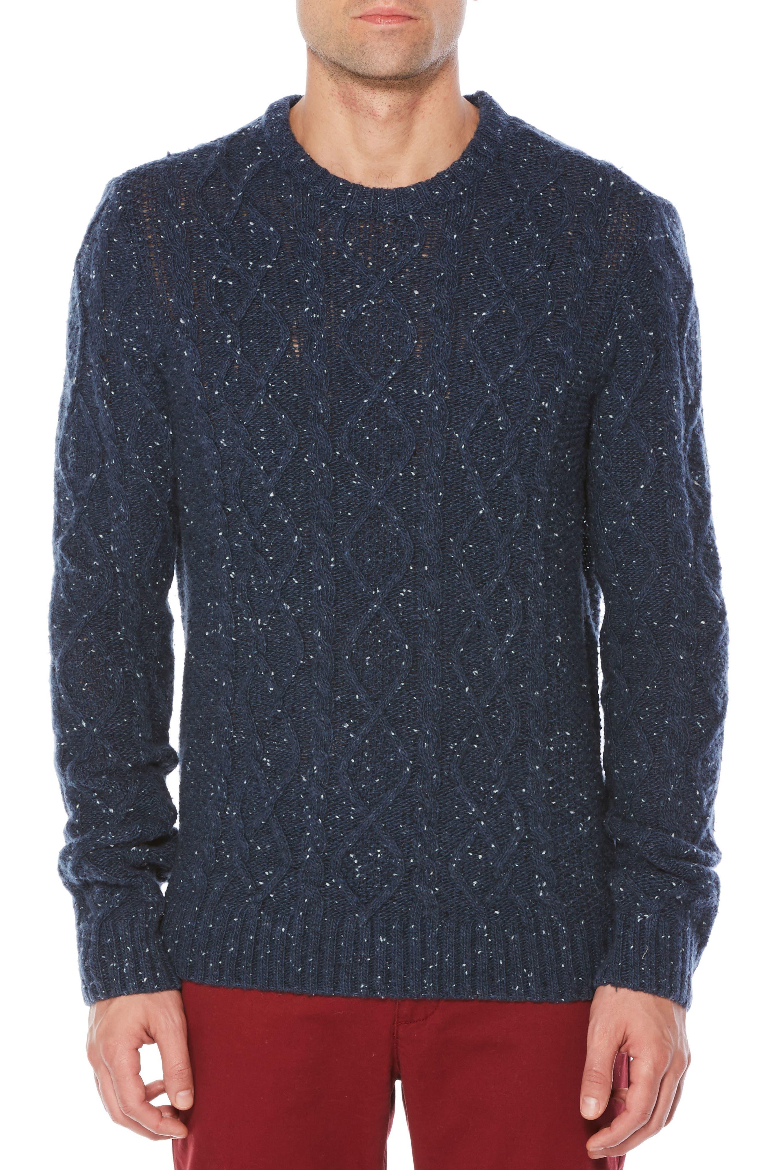 Fisherman Sweater,                         Main,                         color, Dark Sapphire