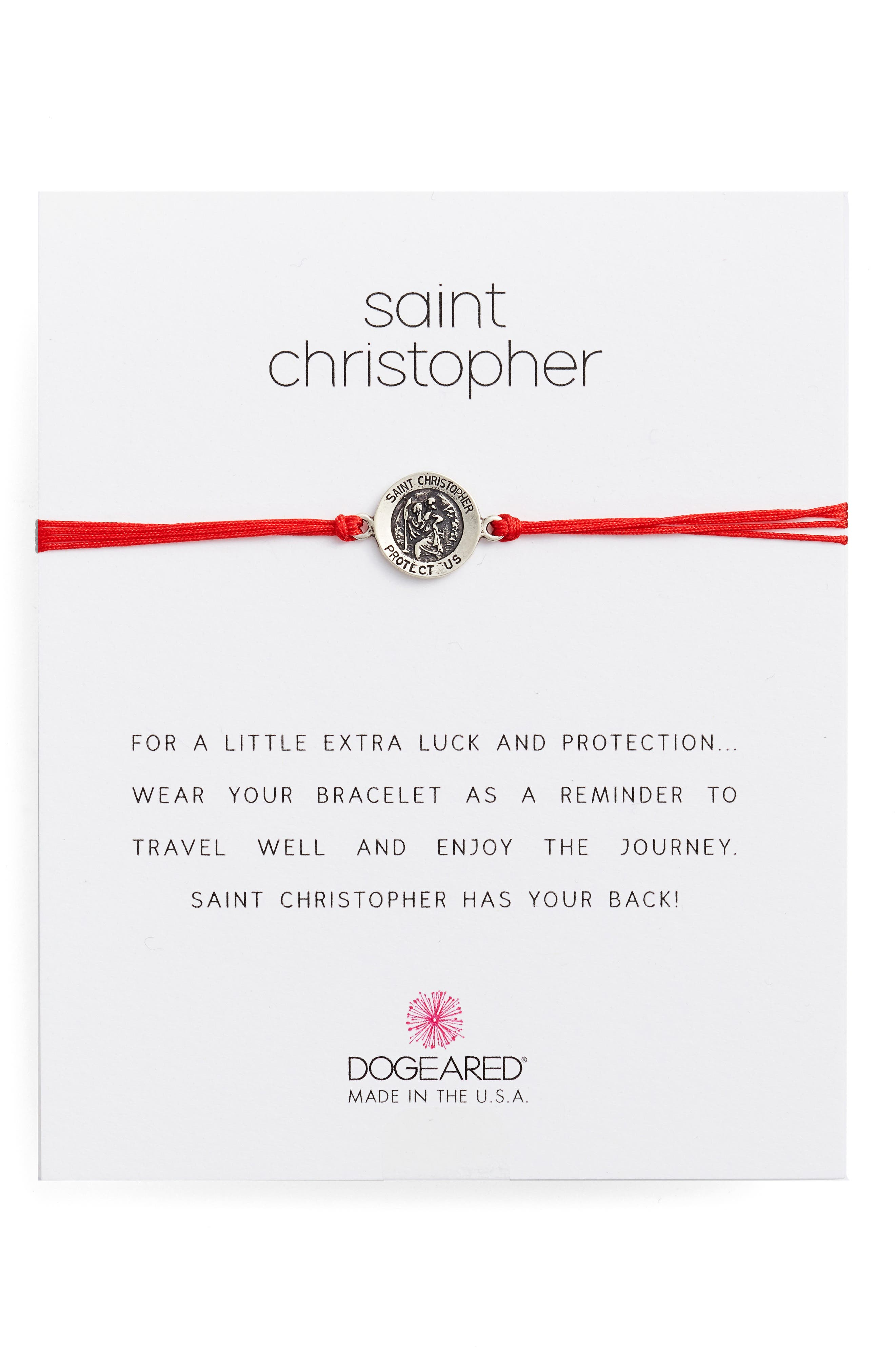 Alternate Image 1 Selected - Dogeared Saint Christopher Pull Bracelet