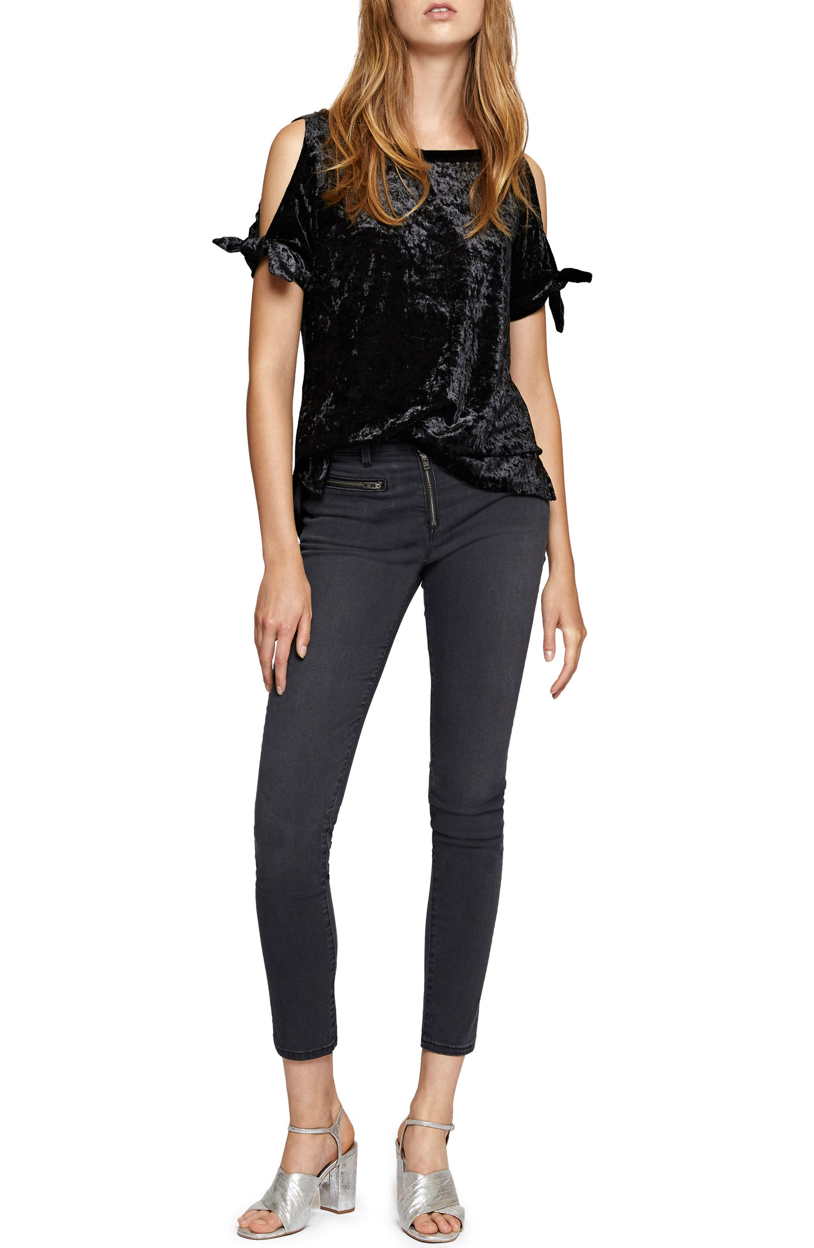 Alternate Image 3  - Sanctuary Lou Crushed Velvet Top (Regular & Petite)