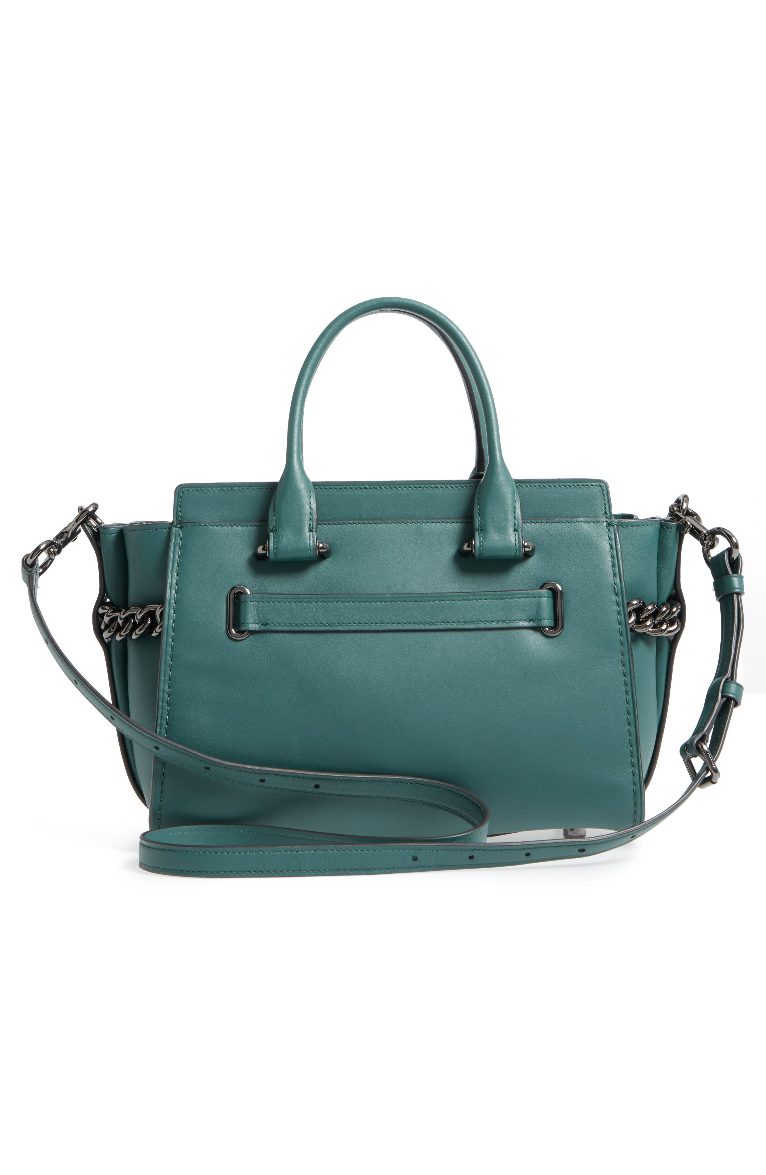 ID Bracelet Swagger 27 Calfskin Leather Satchel,                             Alternate thumbnail 2, color,                             Dark Turquoise