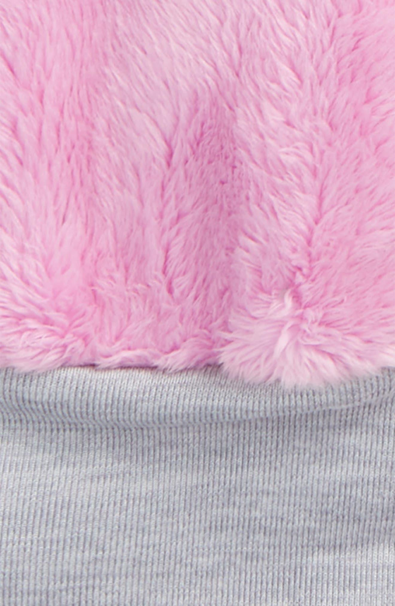 Alternate Image 2  - The North Face Osilito High Loft Fleece Mittens (Toddler Girls)