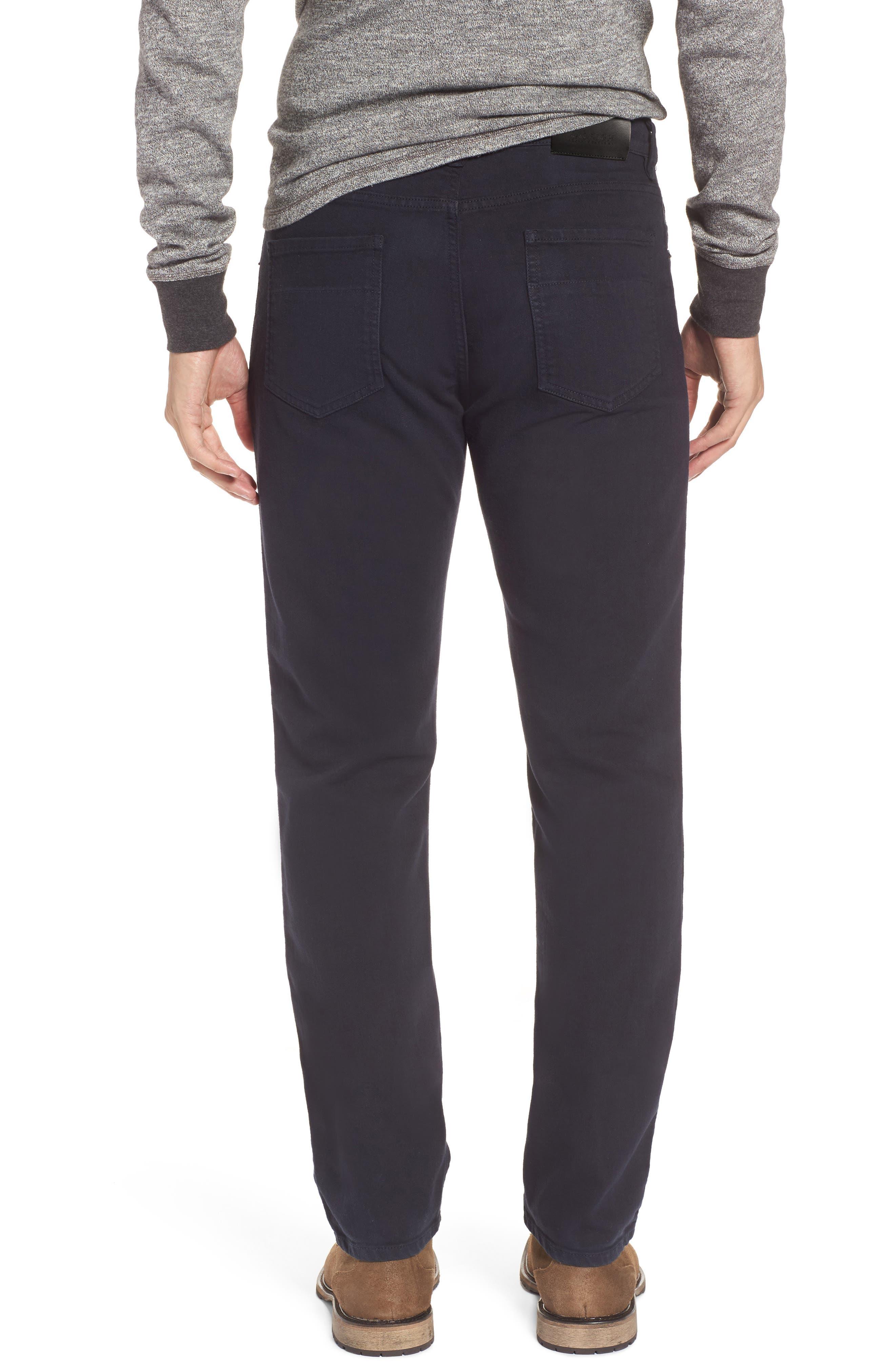 Alternate Image 2  - Raleigh Denim Alexander Straight Leg Jeans (Stretch Dark Fathom)